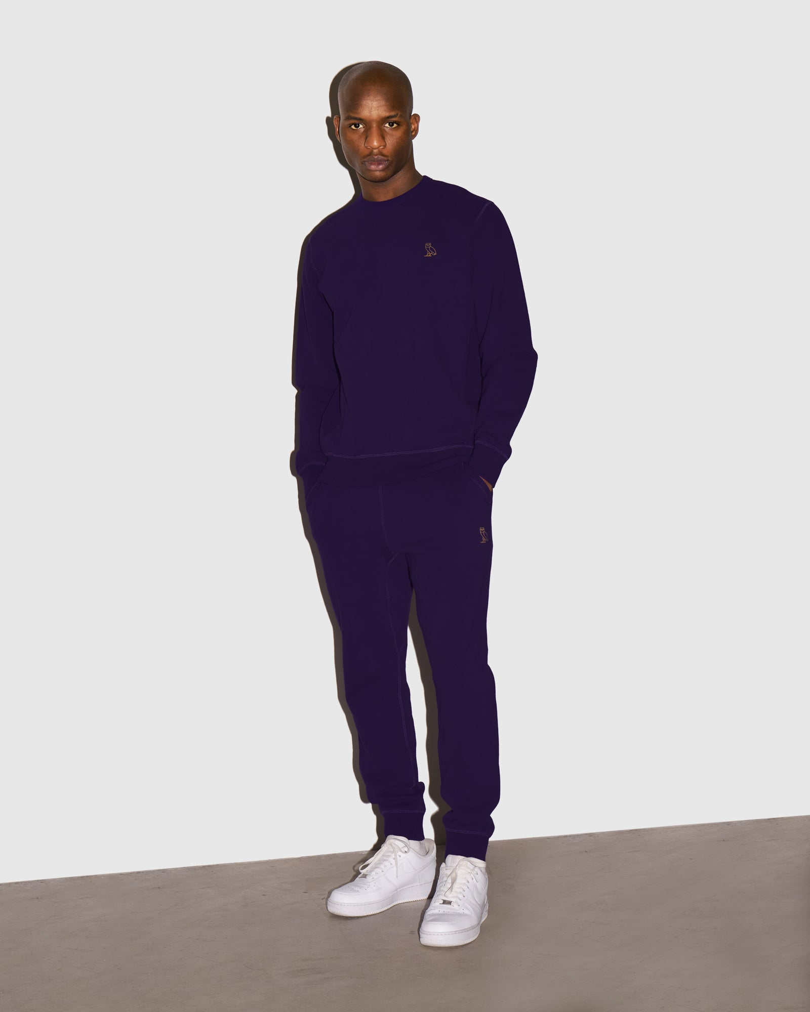 MID-WEIGHT FRENCH TERRY SWEATPANT - PURPLE IMAGE #2