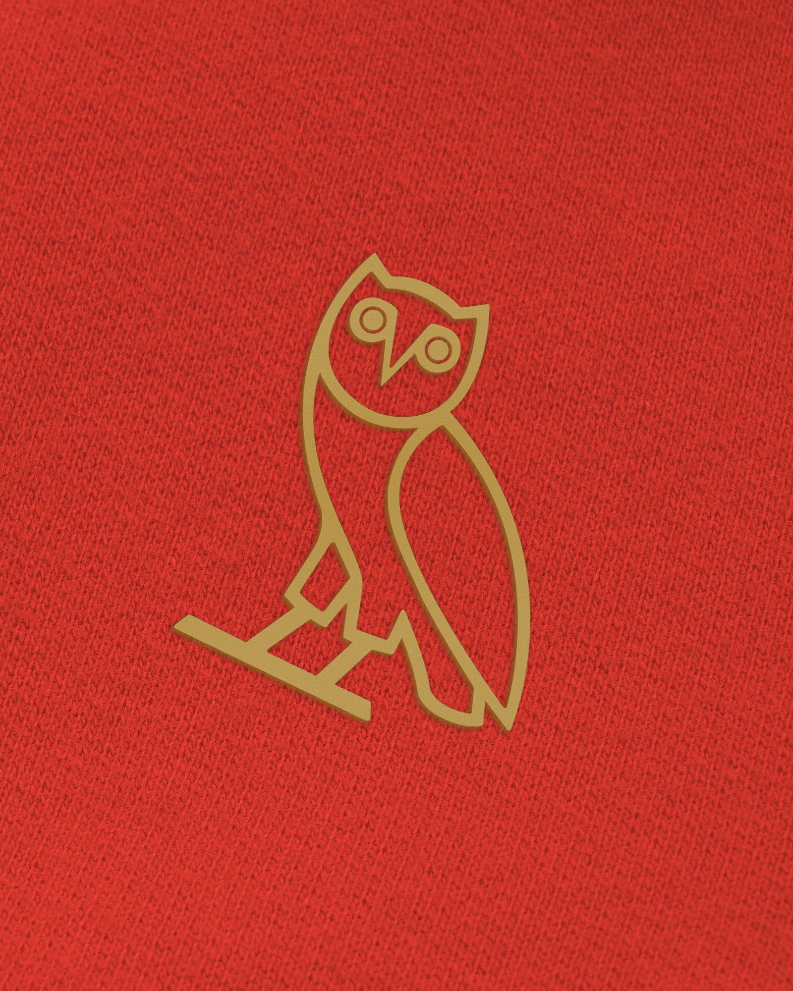 OWL LONGSLEEVE T-SHIRT - RED