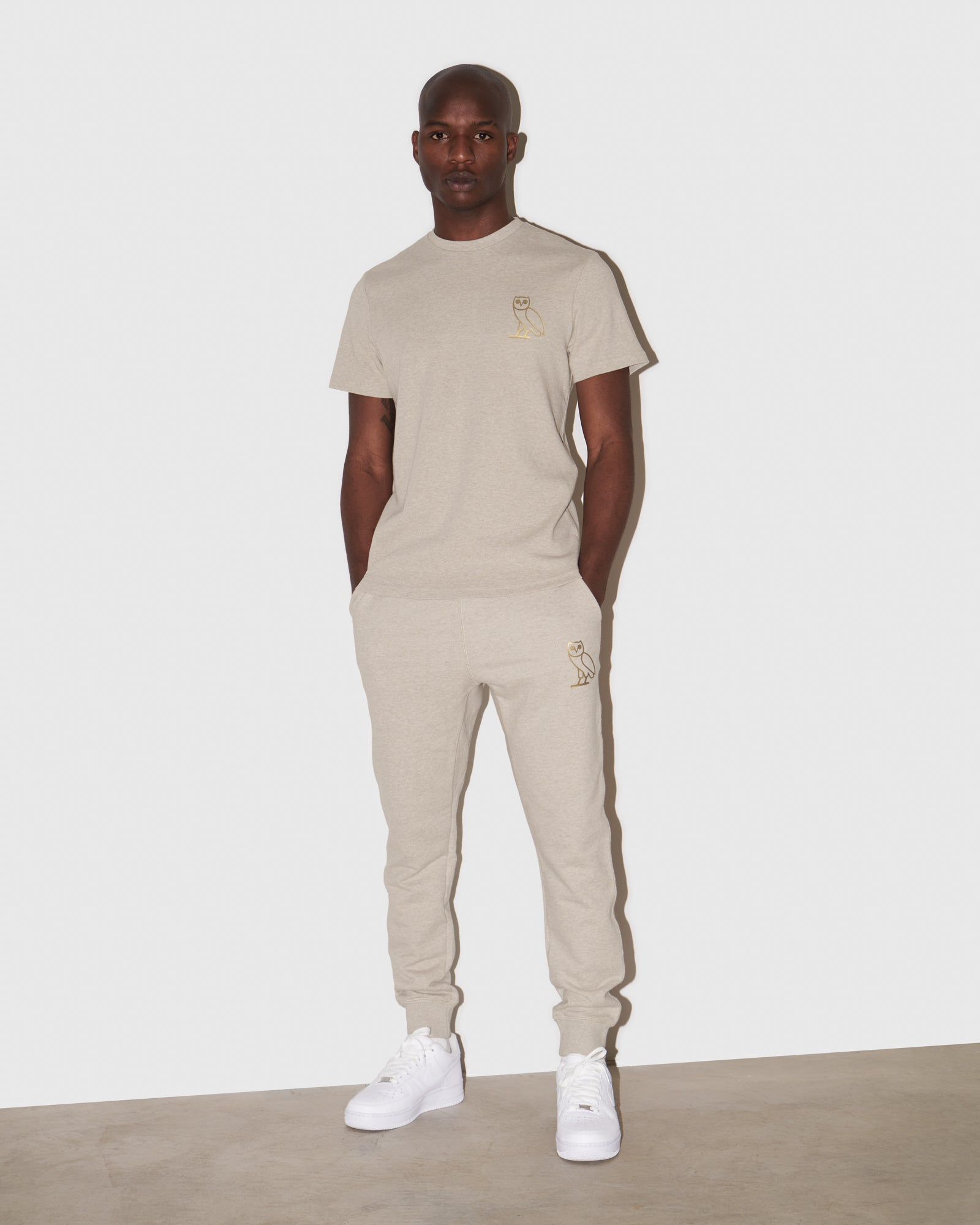 OVO OATMEAL FRENCH TERRY SWEATPANT - HEATHER OATMEAL IMAGE #2