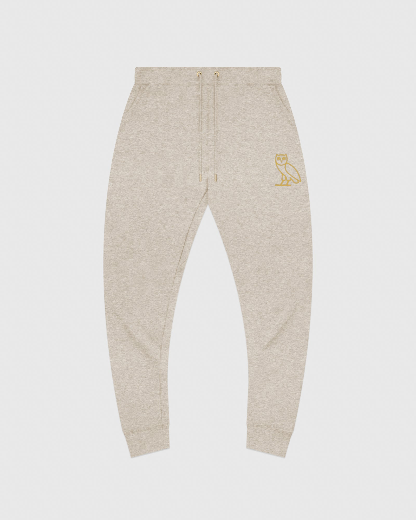 OVO OATMEAL FRENCH TERRY SWEATPANT - HEATHER OATMEAL IMAGE #1