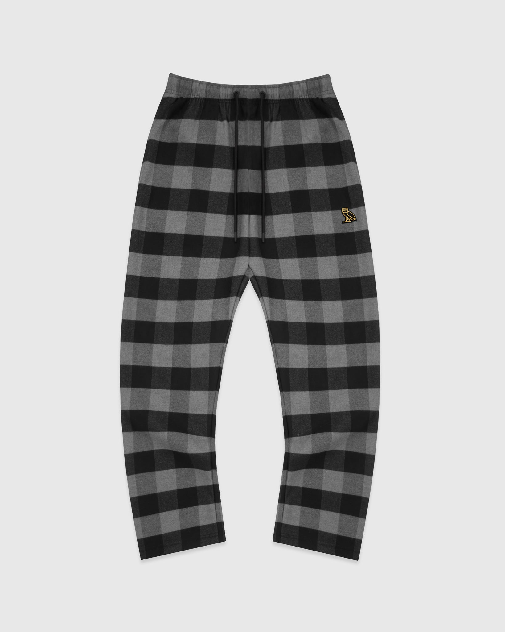 OVO FLANNEL LOUNGE PANT - BLACK PLAID