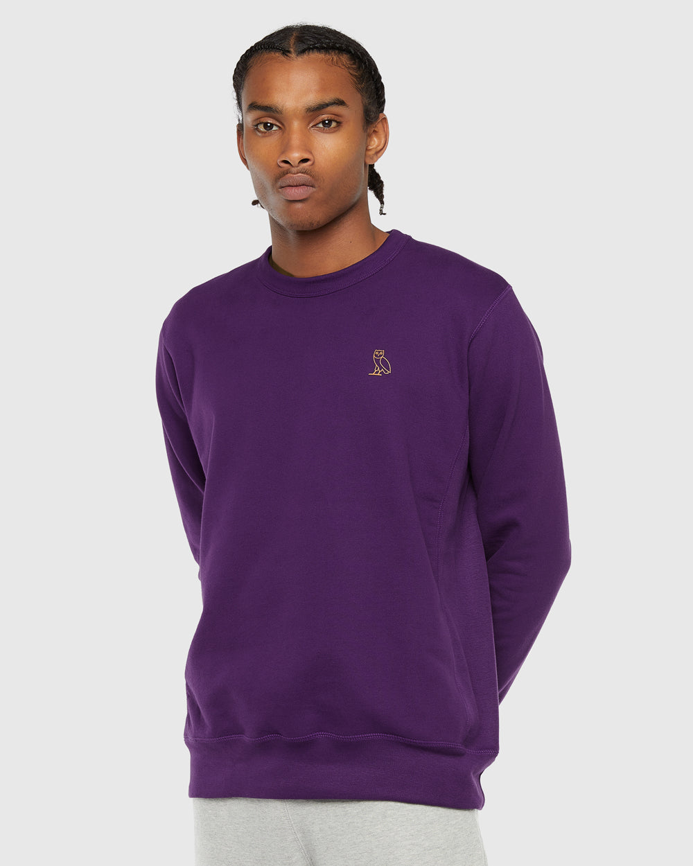 OVO FRENCH TERRY CREW - PURPLE
