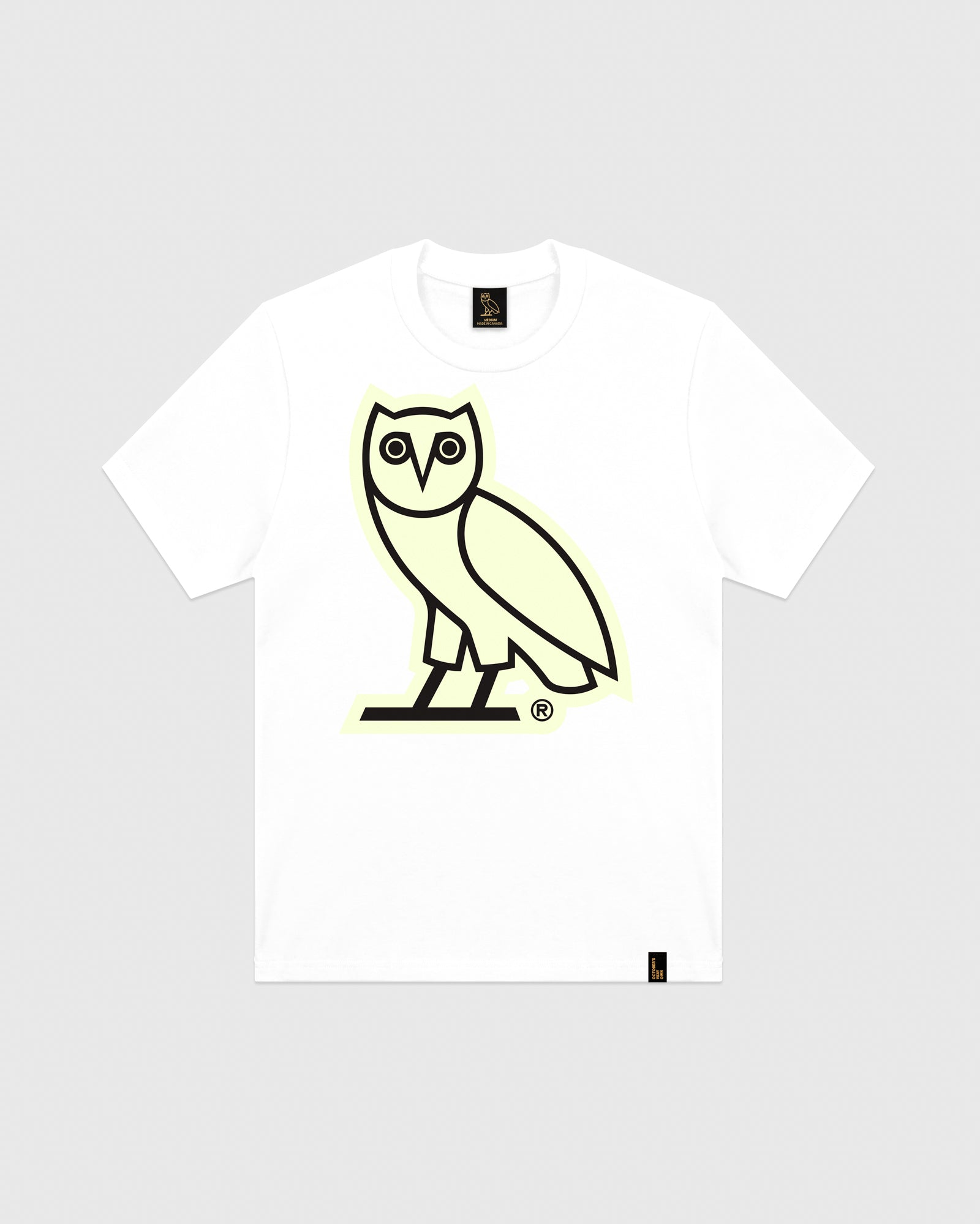 32124485e OVO AFTER DARK OWL T-SHIRT - WHITE – October's Very Own Online US