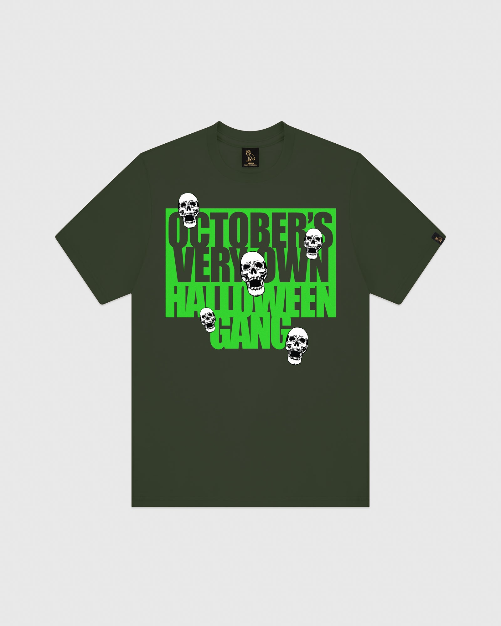 HALLOWEEN GANG T-SHIRT - MILITARY GREEN IMAGE #1