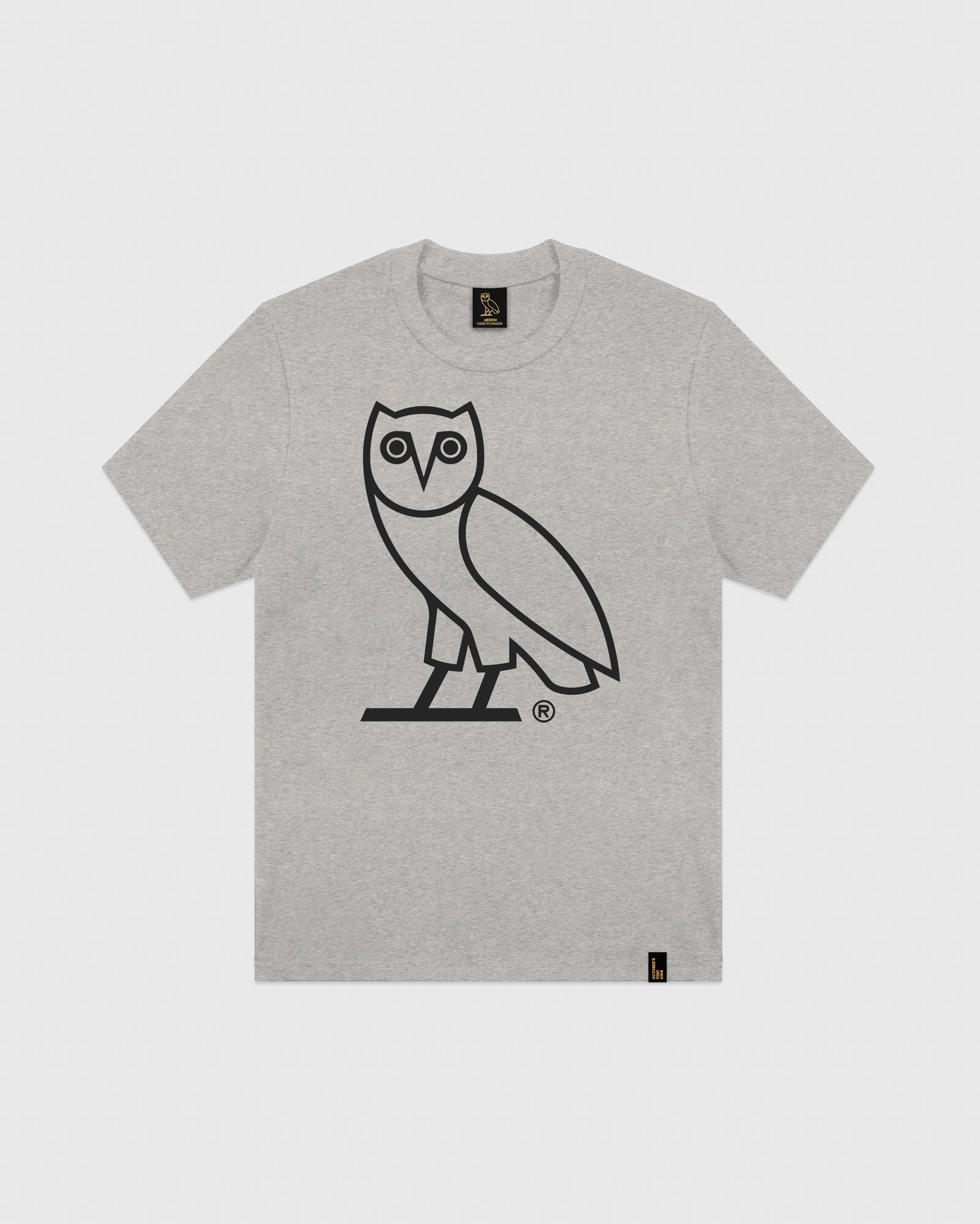 63df5e055 OVO OWL T-SHIRT - HEATHER GREY – October's Very Own Online US