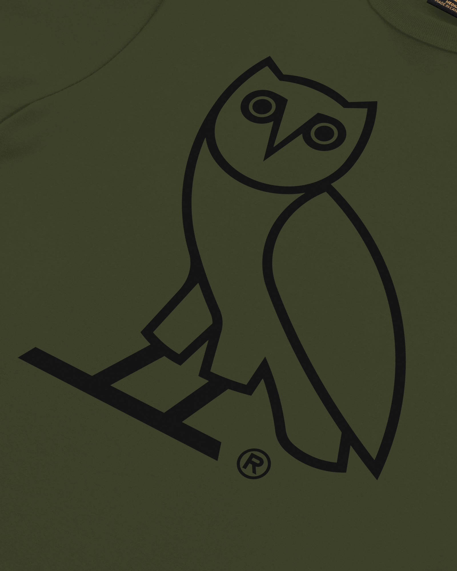 OVO OWL T-SHIRT - MILITARY GREEN IMAGE #3
