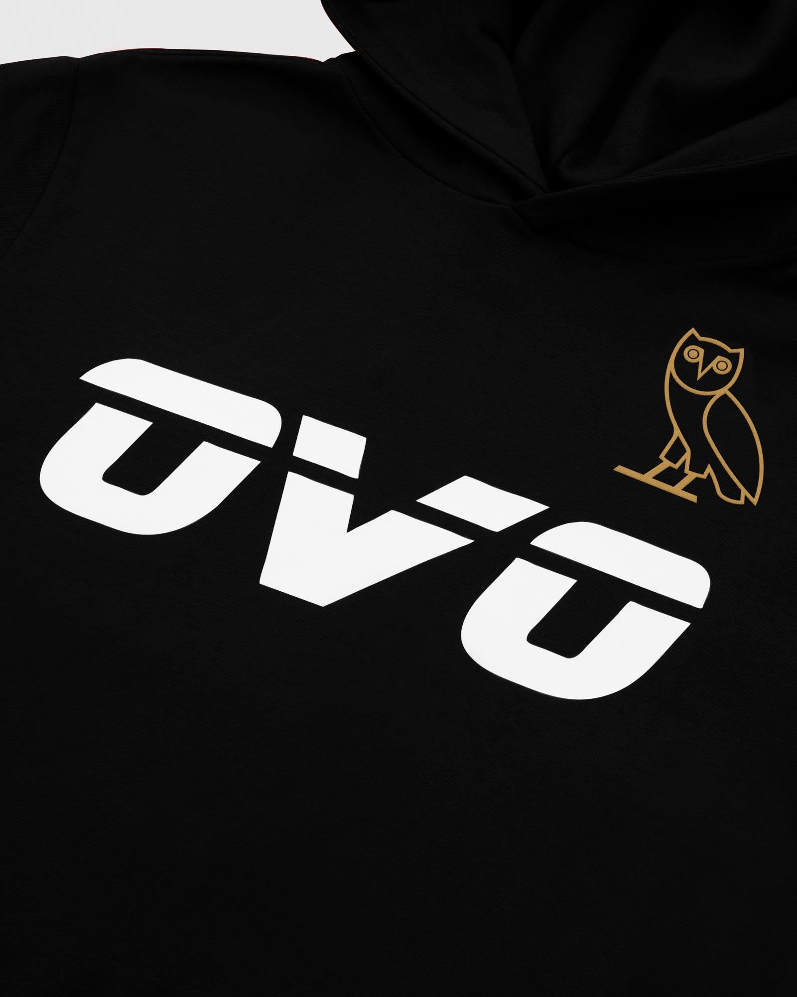 OVO RUNNER HEAVYWEIGHT JERSEY HOODIE - BLACK IMAGE #3