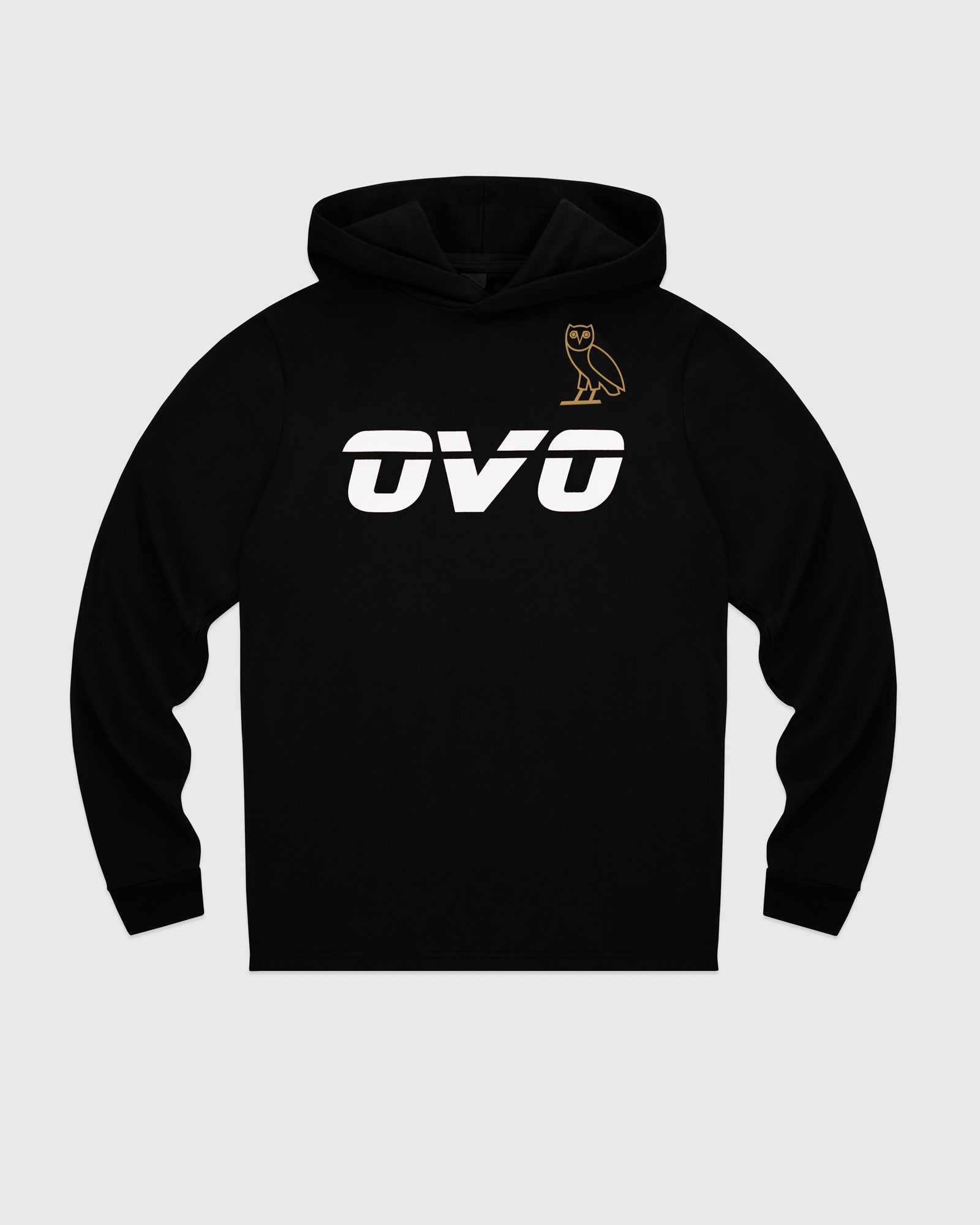 OVO RUNNER HEAVYWEIGHT JERSEY HOODIE - BLACK IMAGE #1
