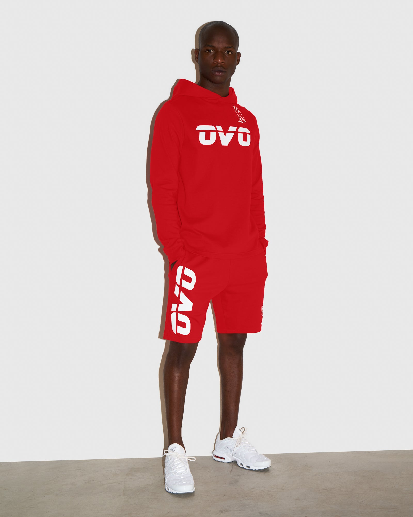 OVO RUNNER HEAVYWEIGHT JERSEY SHORT - RED IMAGE #2