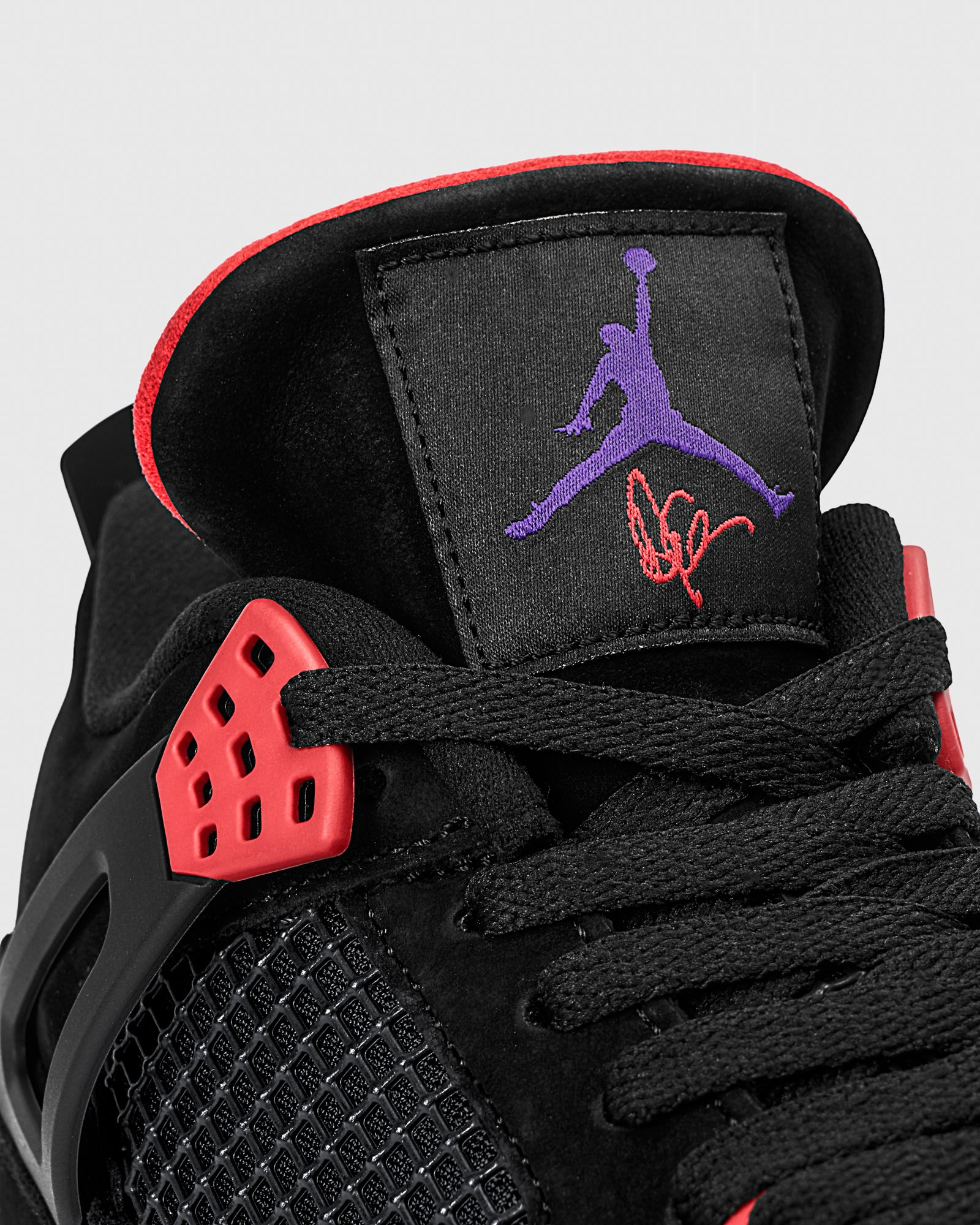 AIR JORDAN IV - BLACK/COURT PURPLE IMAGE #2