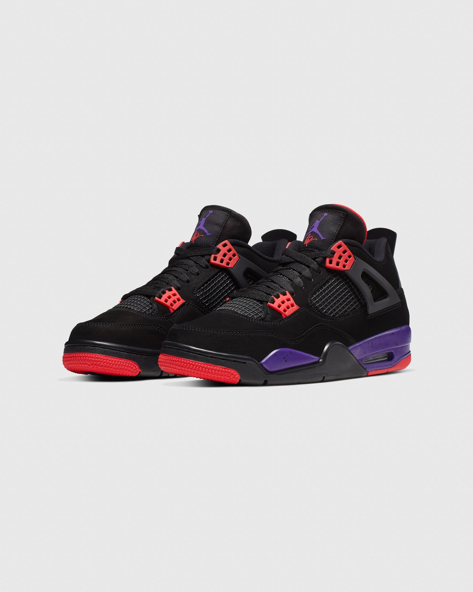 AIR JORDAN IV - BLACK/COURT PURPLE IMAGE #3