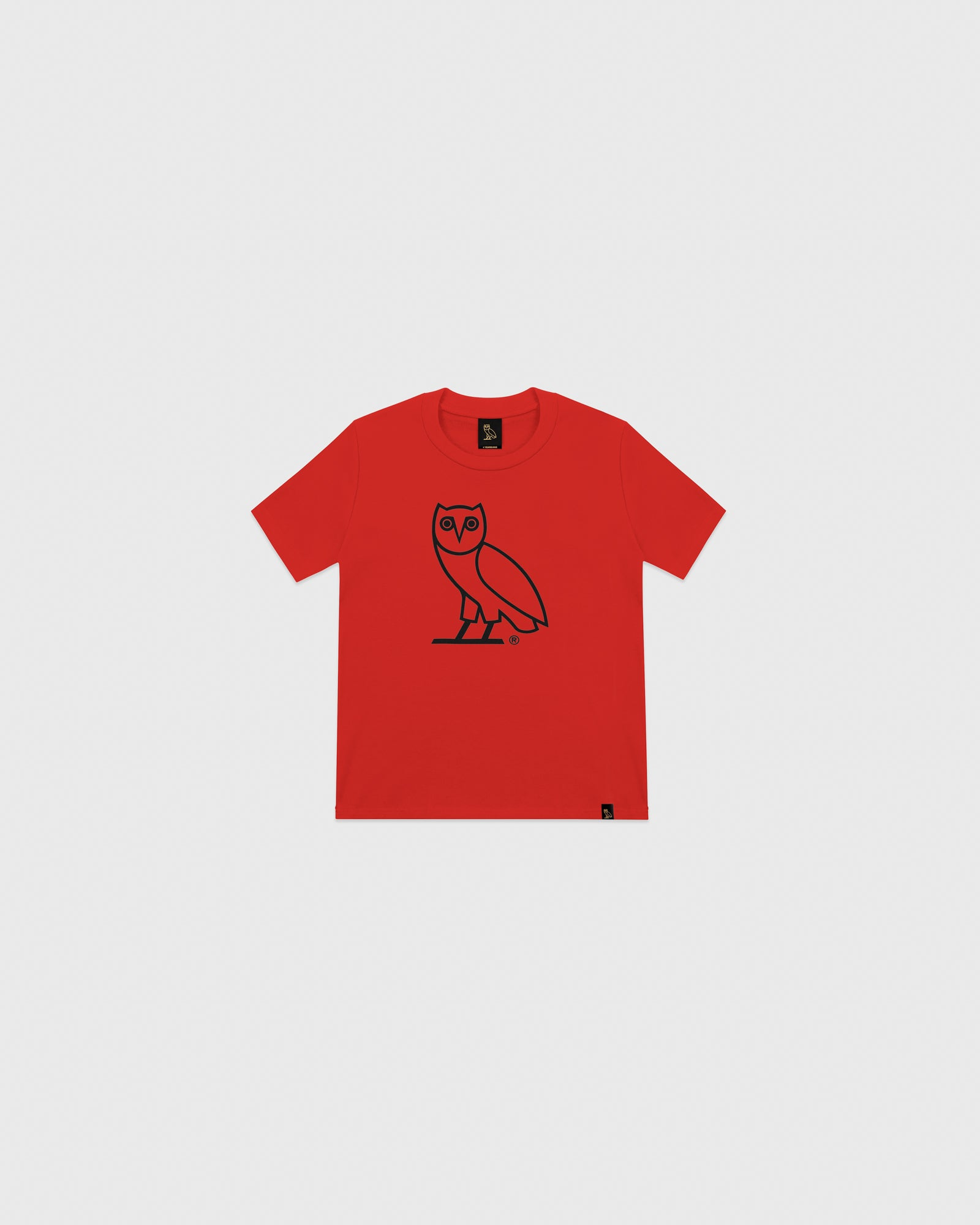 KIDS OG OWL T-SHIRT - RED IMAGE #1