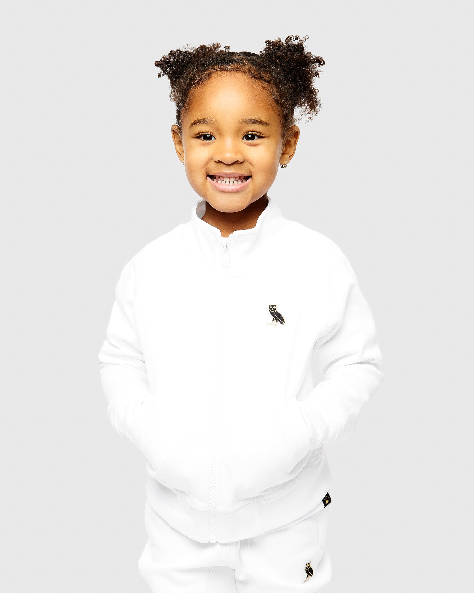 KIDS PIQUE JACKET - WHITE IMAGE #2