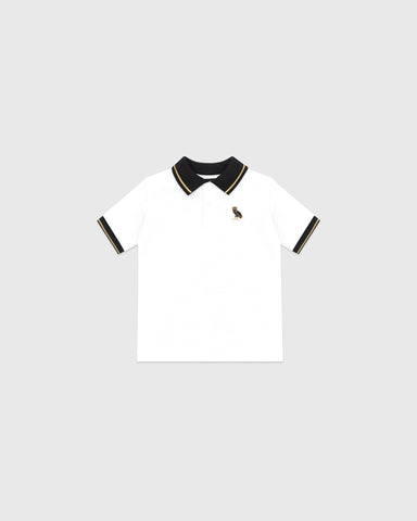 KIDS POLO - WHITE