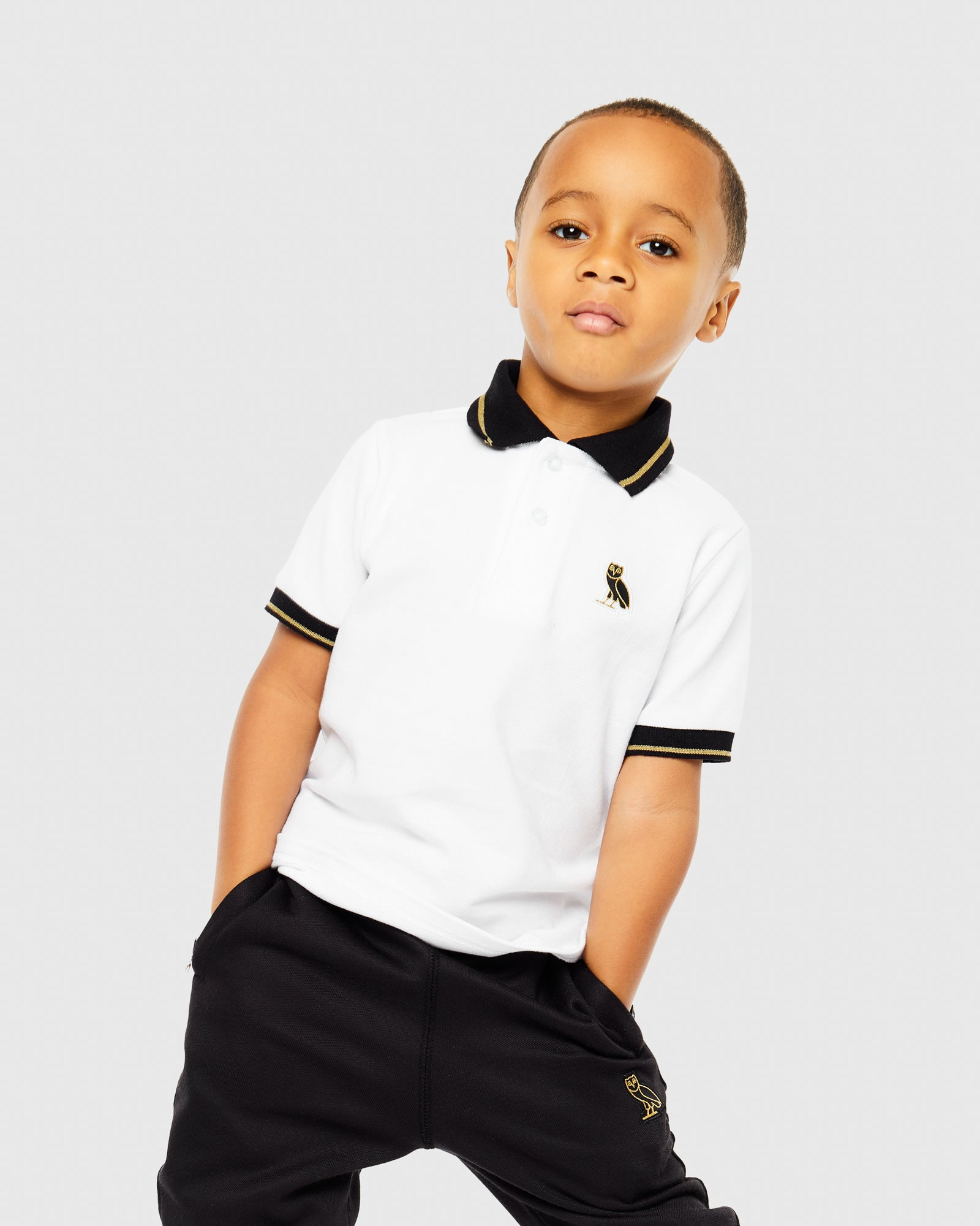 KIDS POLO - WHITE IMAGE #2