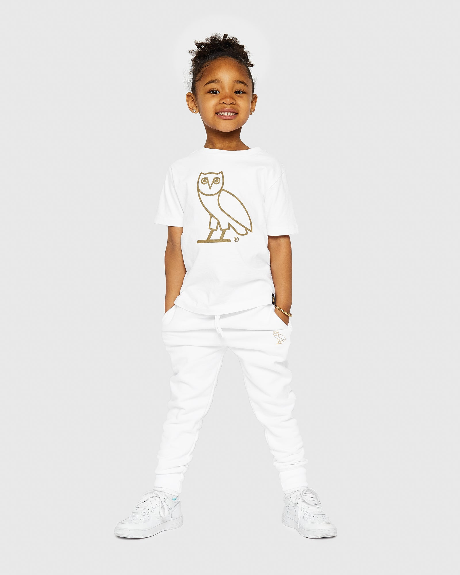 KIDS SWEATPANT - WHITE IMAGE #2