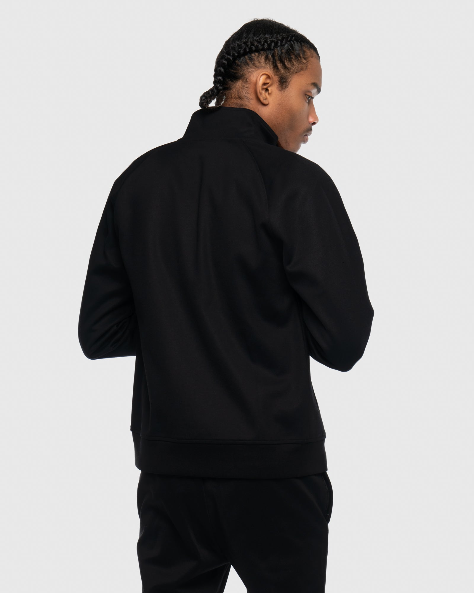 OVO LETTERMAN TRACK JACKET - BLACK