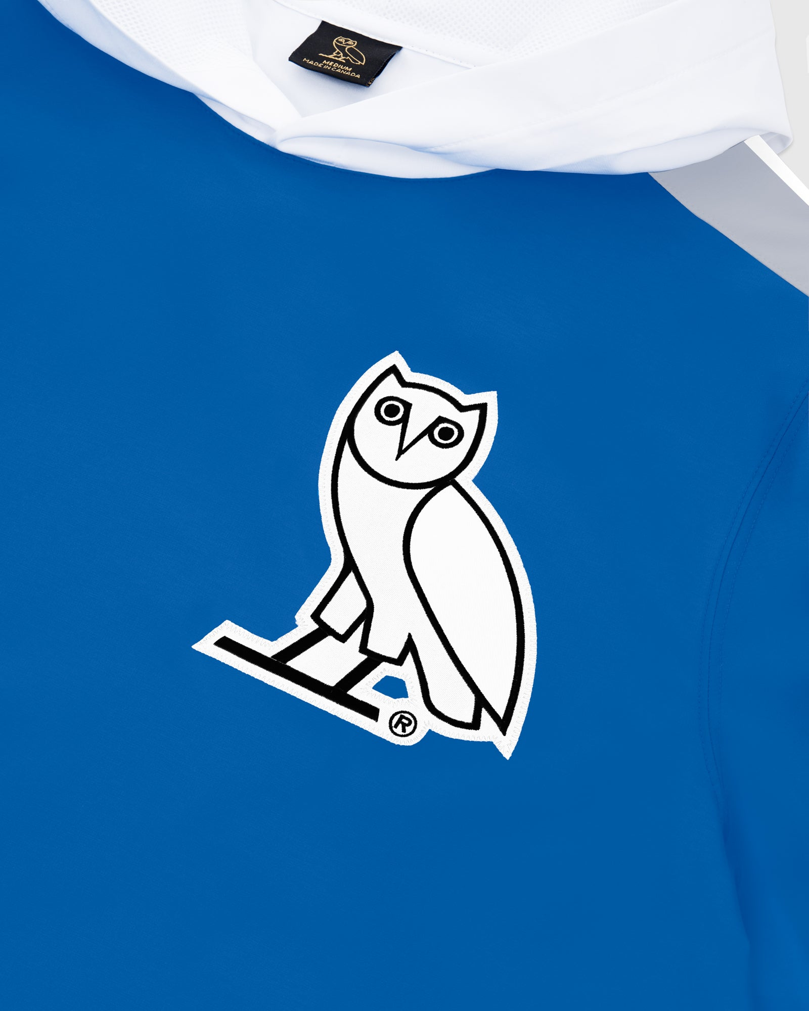 OVO LIGHTWEIGHT SHELL HOODIE - ROYAL BLUE IMAGE #3