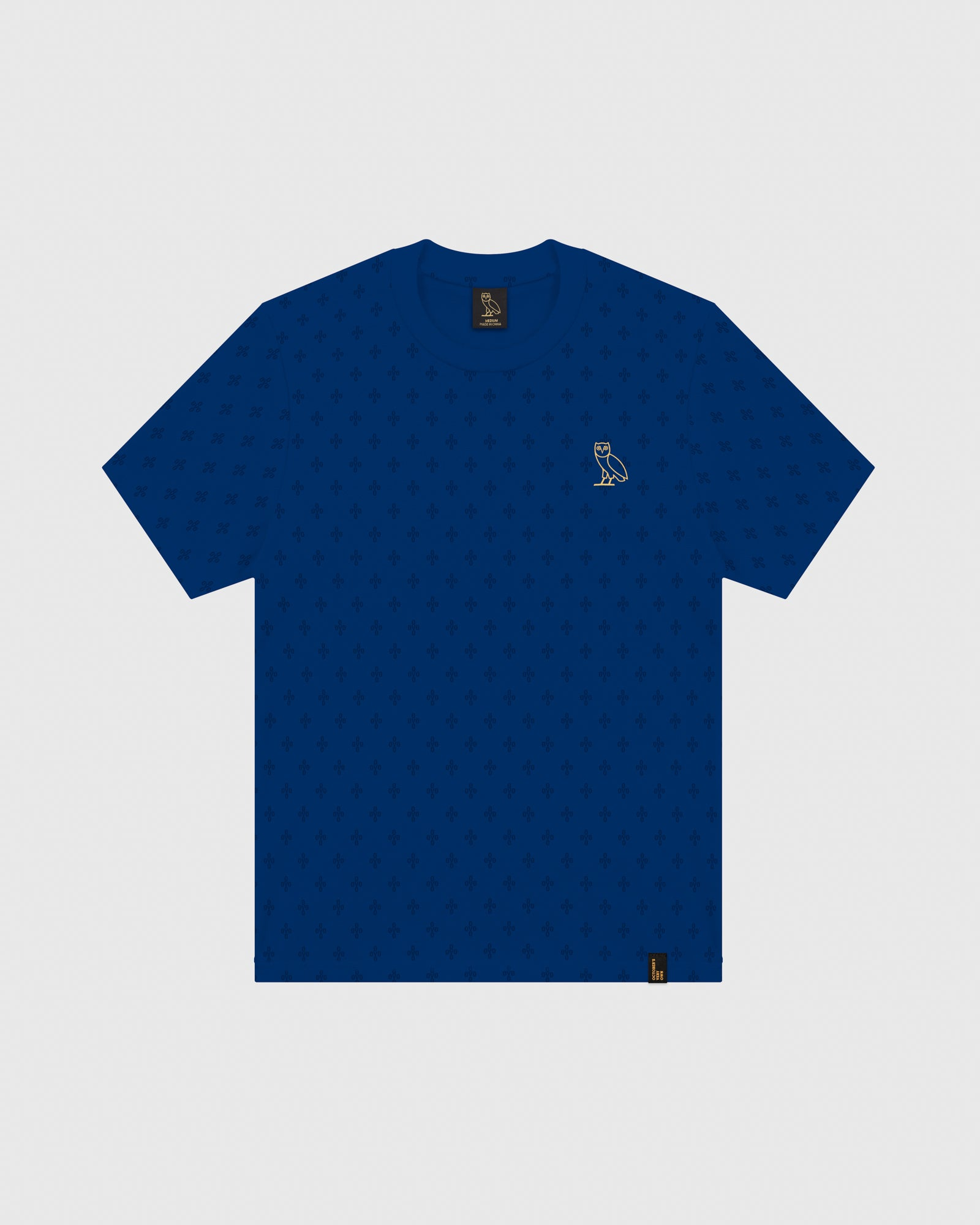 OVO MONOGRAM T-SHIRT - ELECTRIC BLUE IMAGE #1