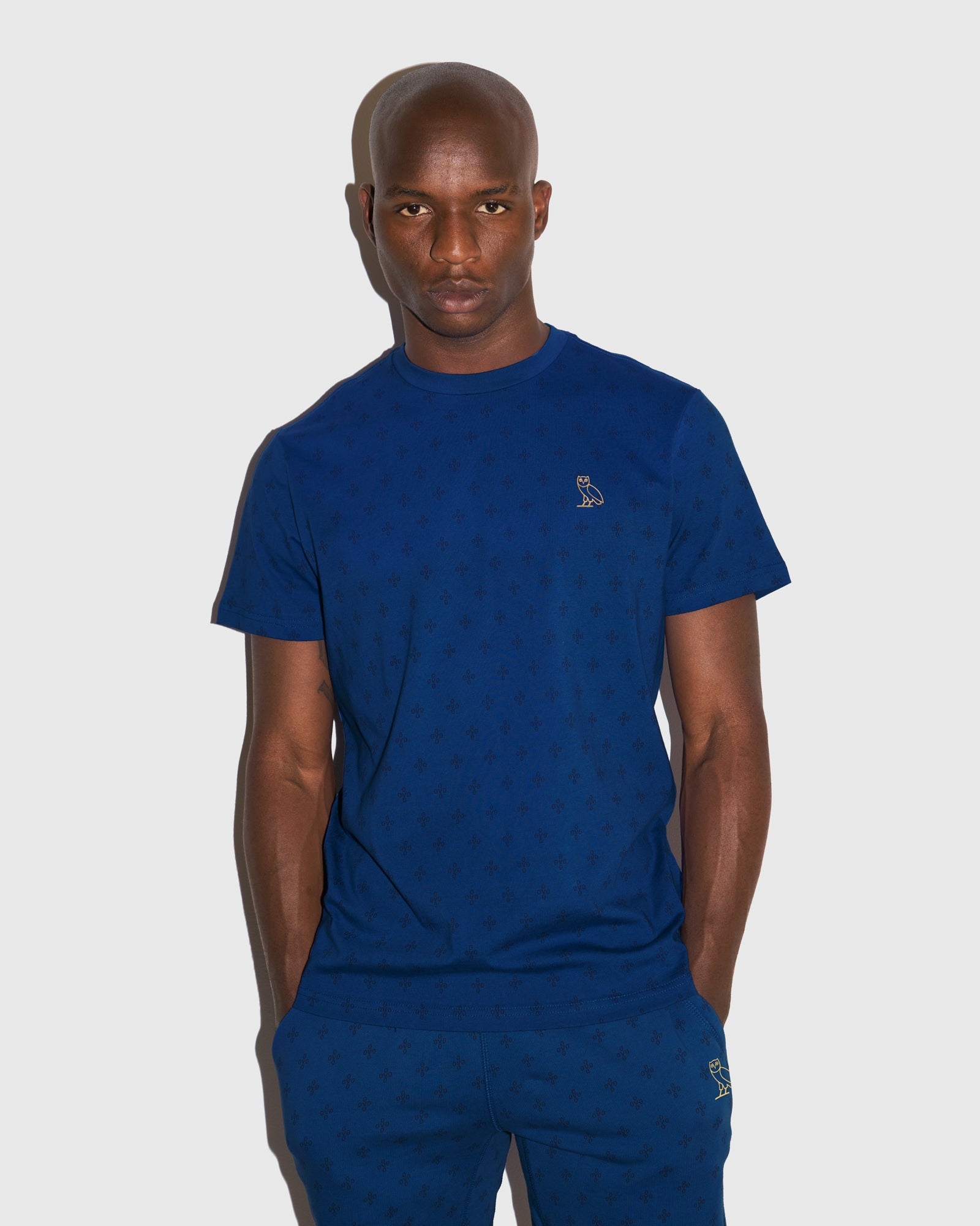 OVO MONOGRAM T-SHIRT - ELECTRIC BLUE IMAGE #2