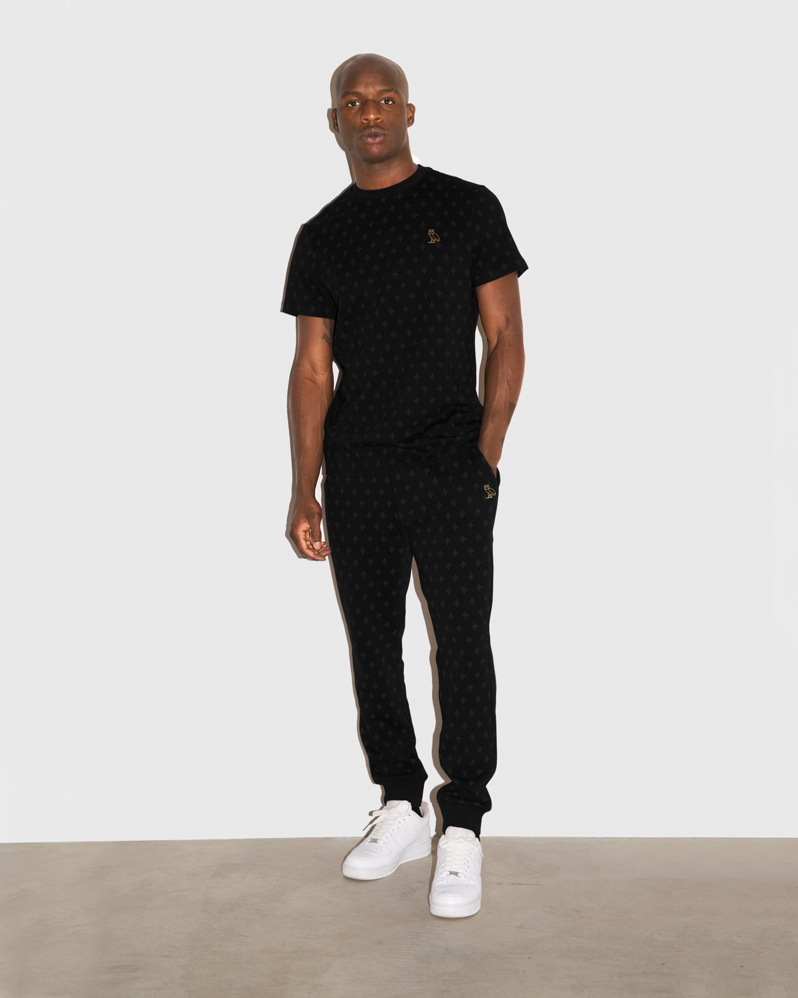 OVO MONOGRAM SWEATPANT - BLACK IMAGE #2