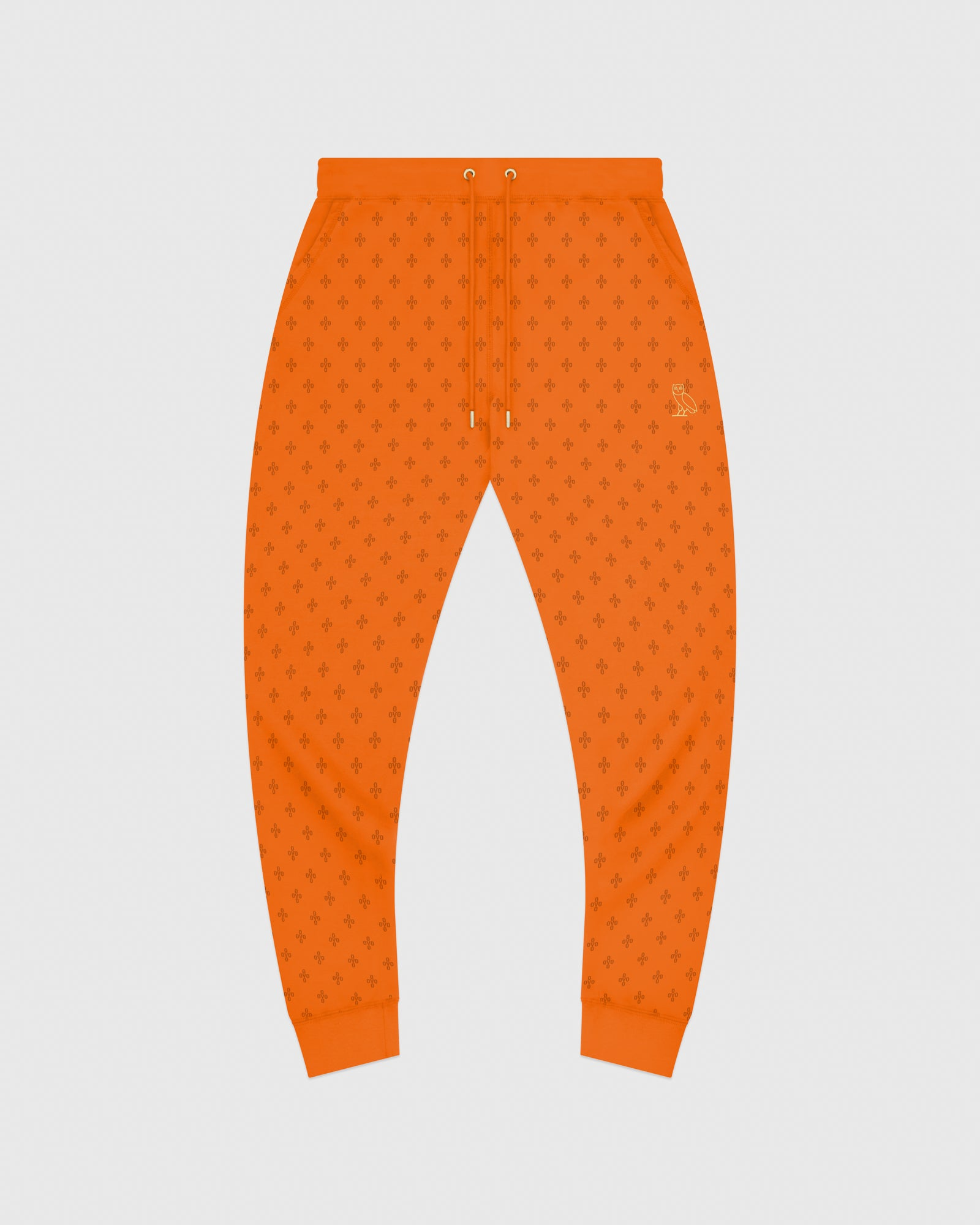 OVO MONOGRAM SWEATPANT - ORANGE IMAGE #1