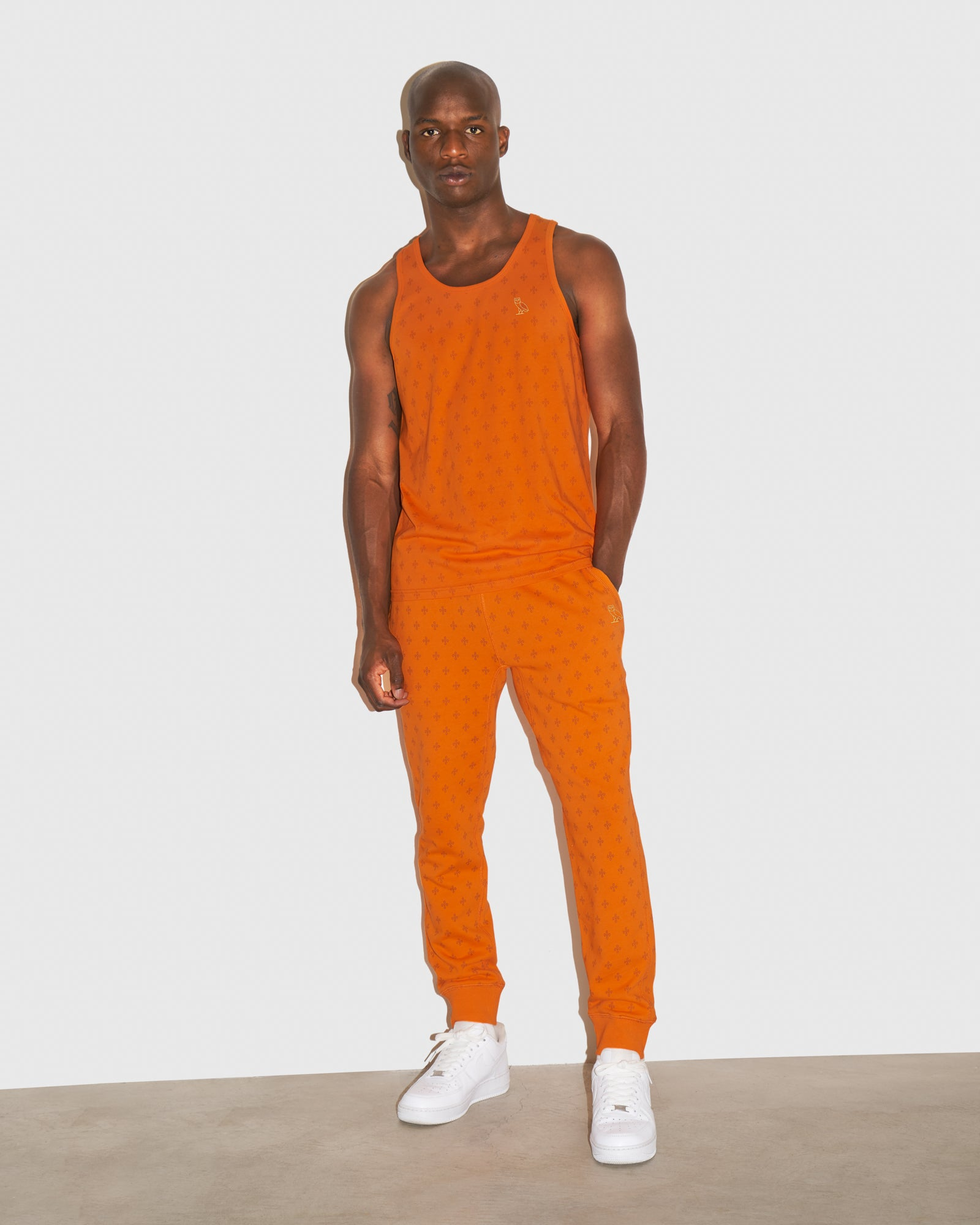 OVO MONOGRAM SWEATPANT - ORANGE IMAGE #2