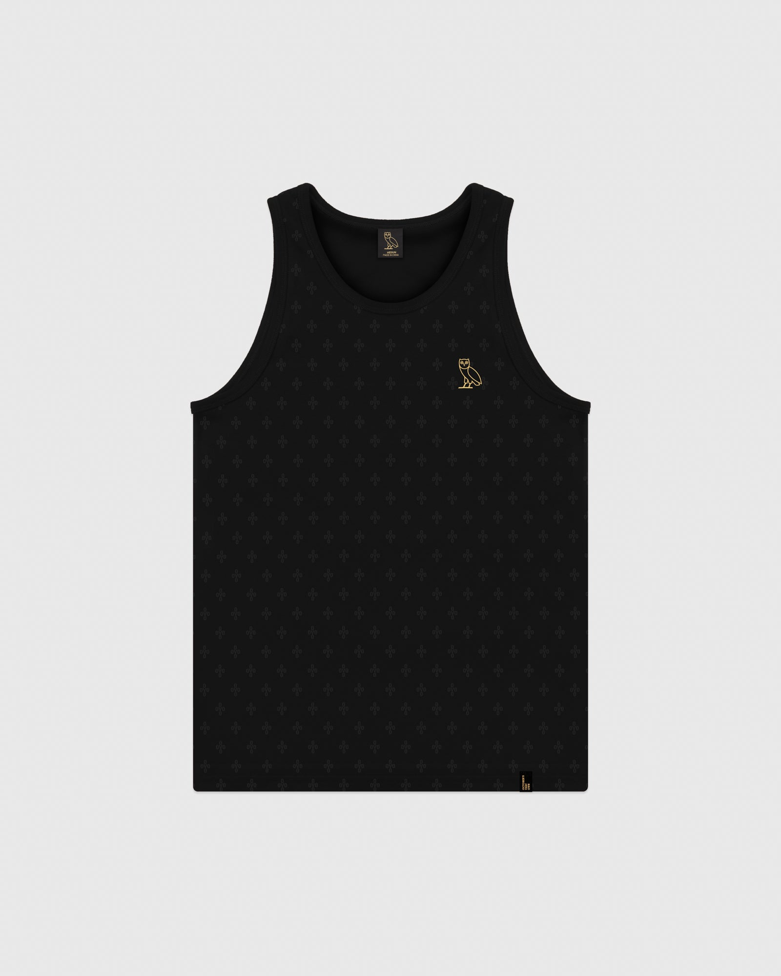OVO MONOGRAM TANK TOP - BLACK IMAGE #1