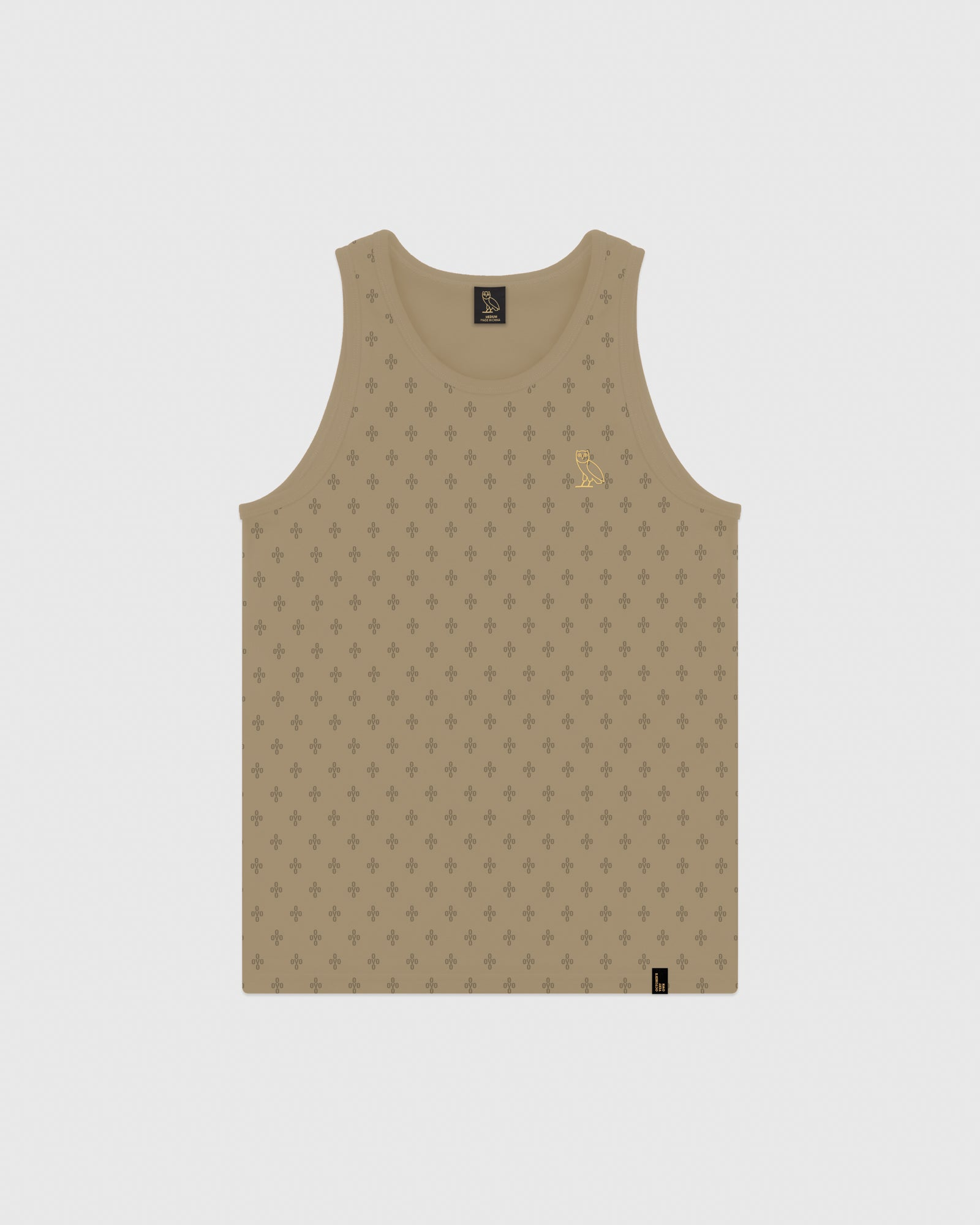 OVO MONOGRAM TANK TOP - KHAKI