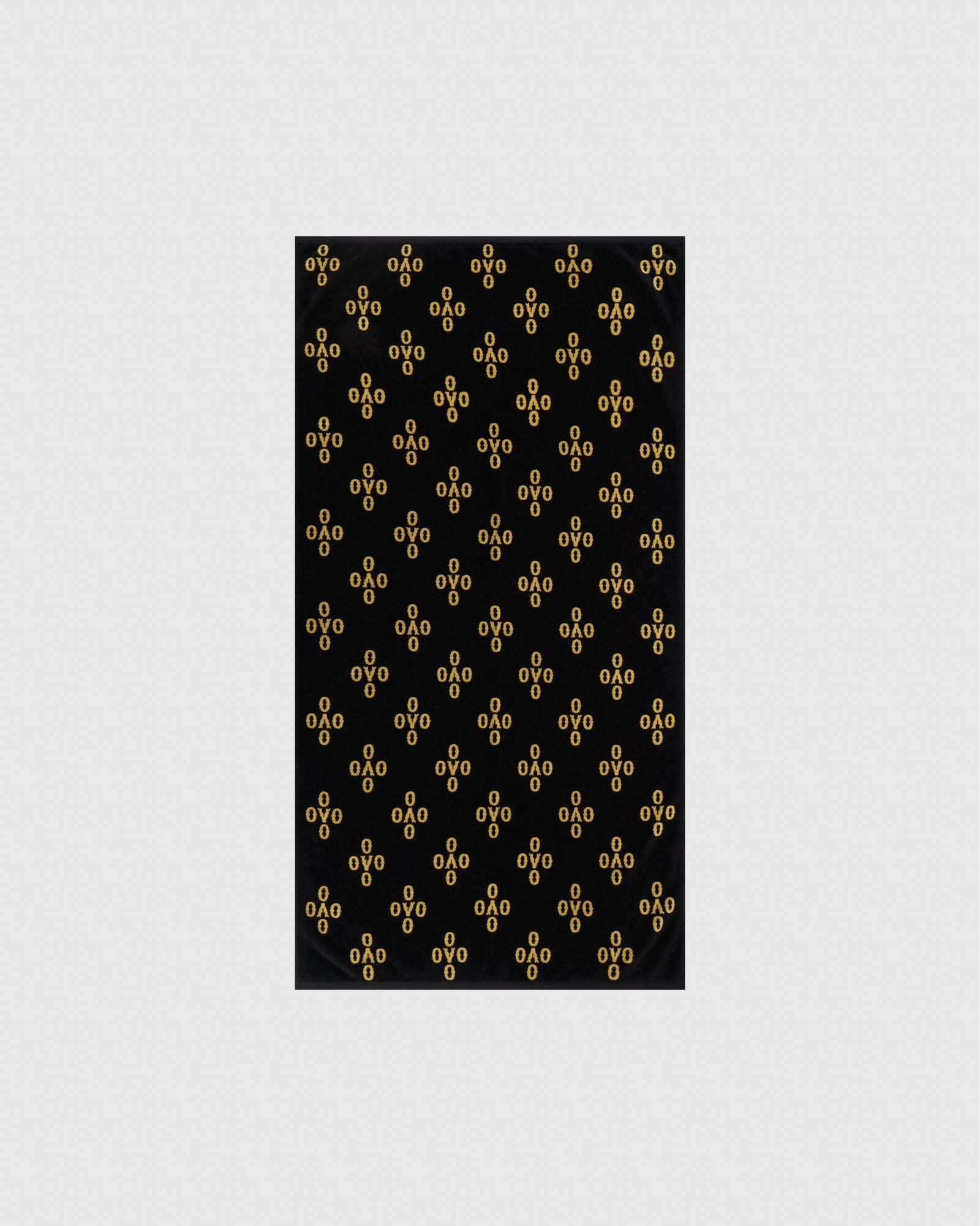 OVO MONOGRAM BEACH TOWEL - BLACK/GOLD IMAGE #1