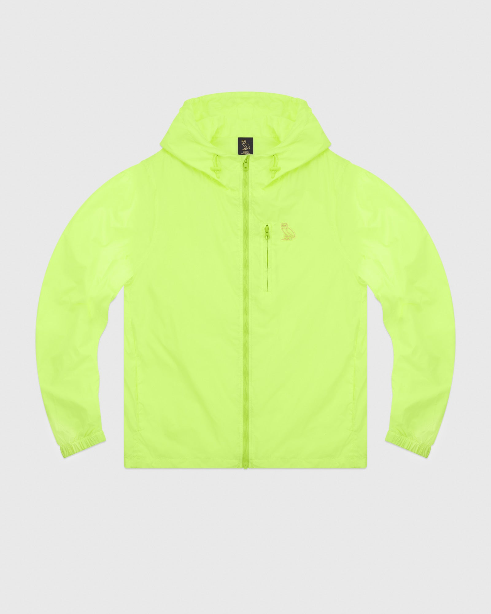 ad0e65ccf6327a OVO NYLON PACKABLE JACKET - NEON GREEN – October s Very Own Online US