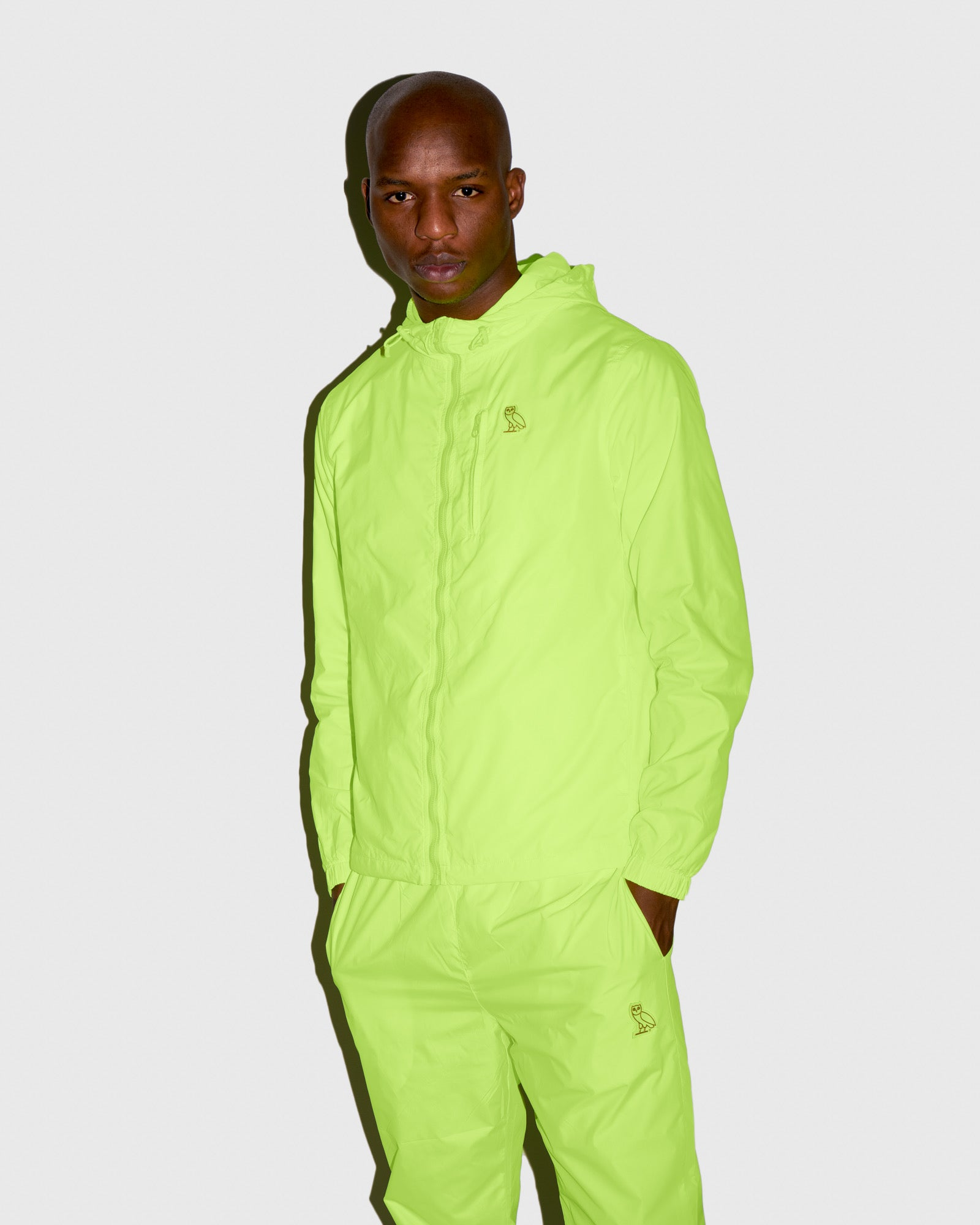 OVO NYLON PACKABLE JACKET - NEON GREEN IMAGE #2