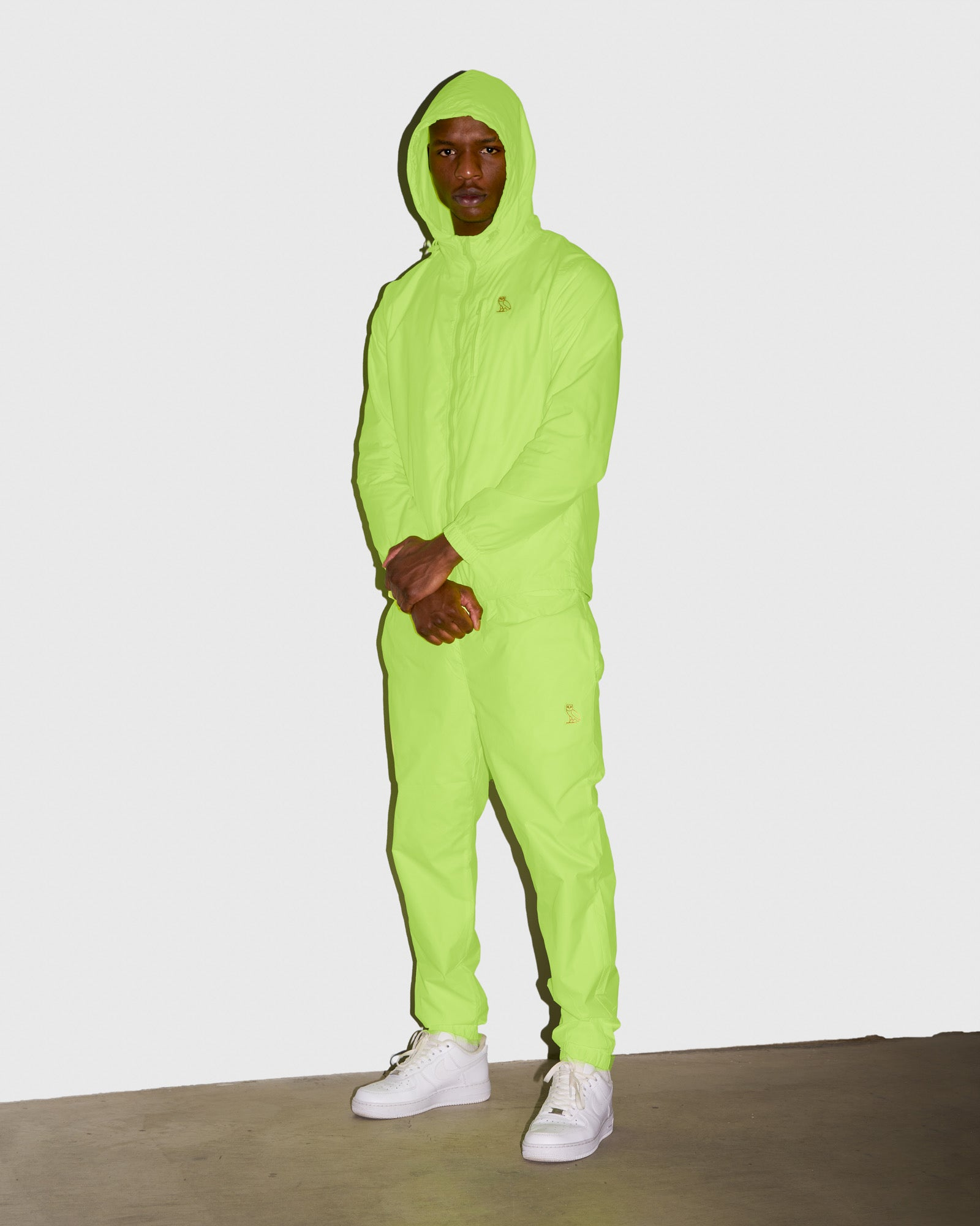 OVO NYLON PACKABLE PANT - NEON GREEN IMAGE #2