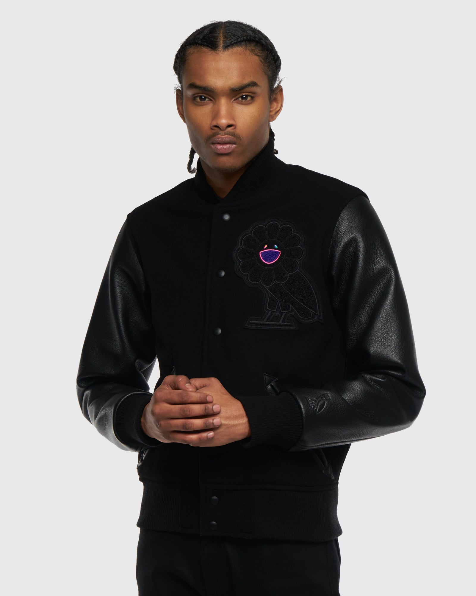 OVO x MURAKAMI TEAM JACKET - BLACK