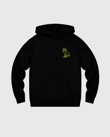 OVO FRENCH TERRY HOODIE - BLACK