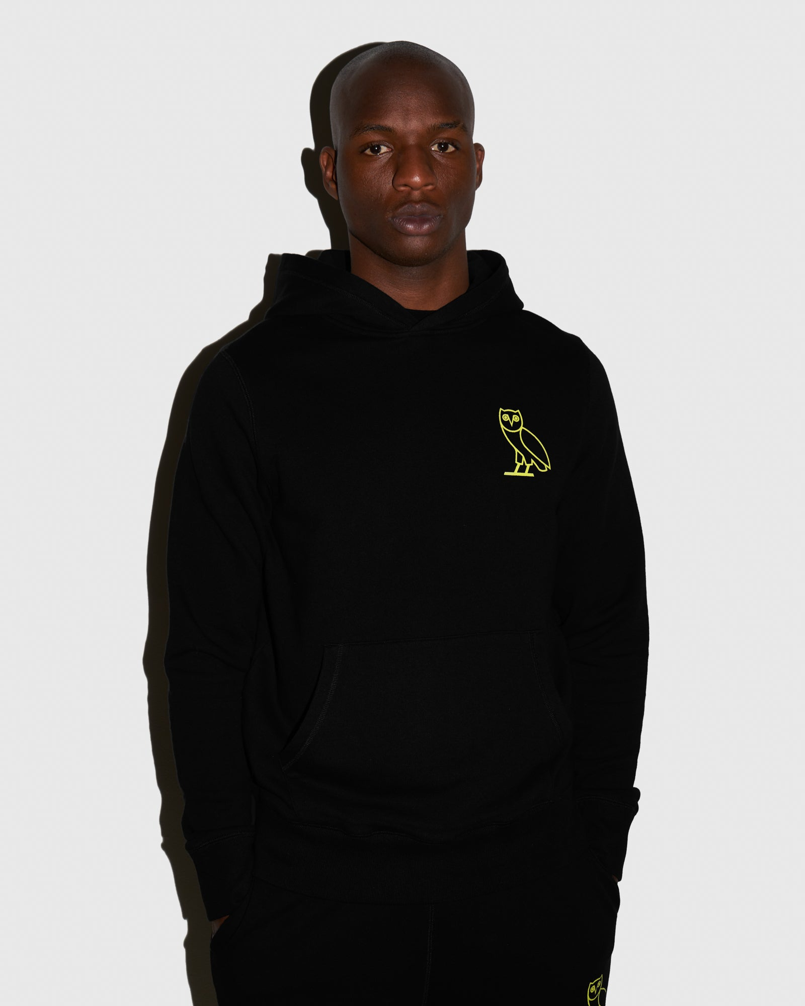 OVO FRENCH TERRY HOODIE - BLACK IMAGE #2