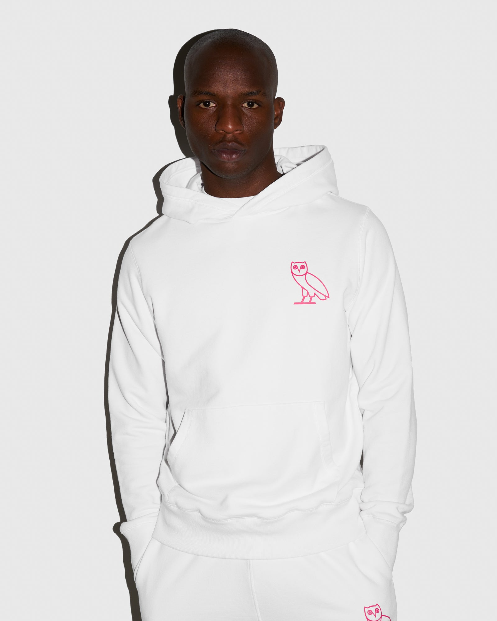 OVO FRENCH TERRY HOODIE - WHITE IMAGE #2