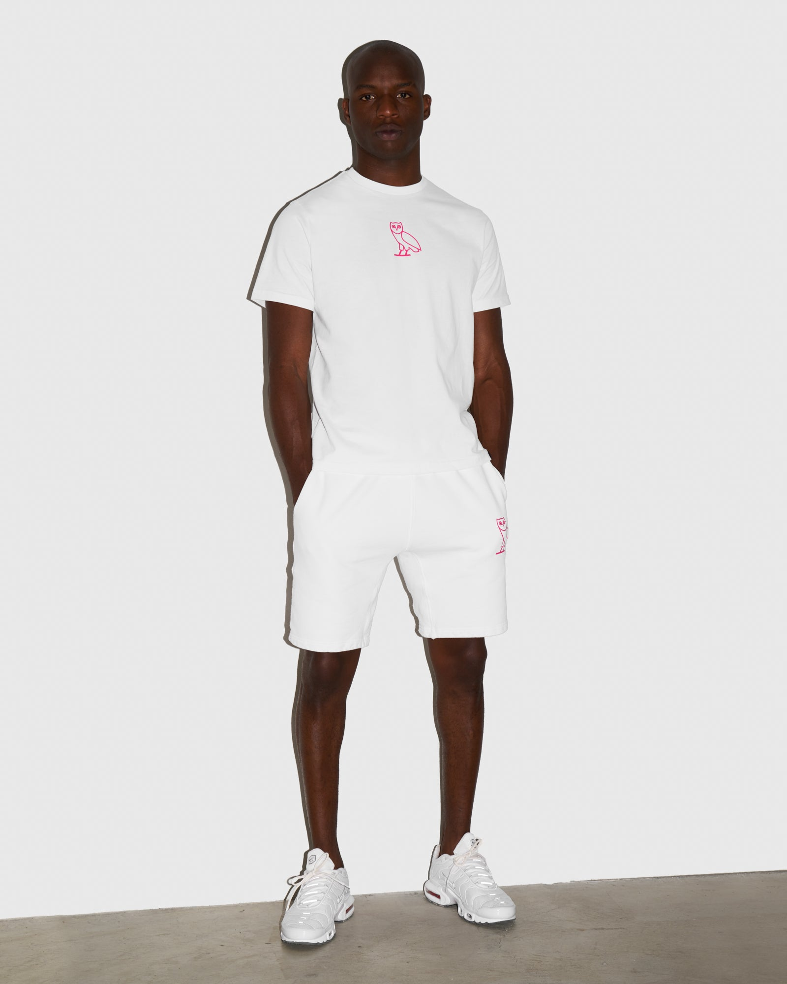 OVO FRENCH TERRY SHORT - WHITE IMAGE #2