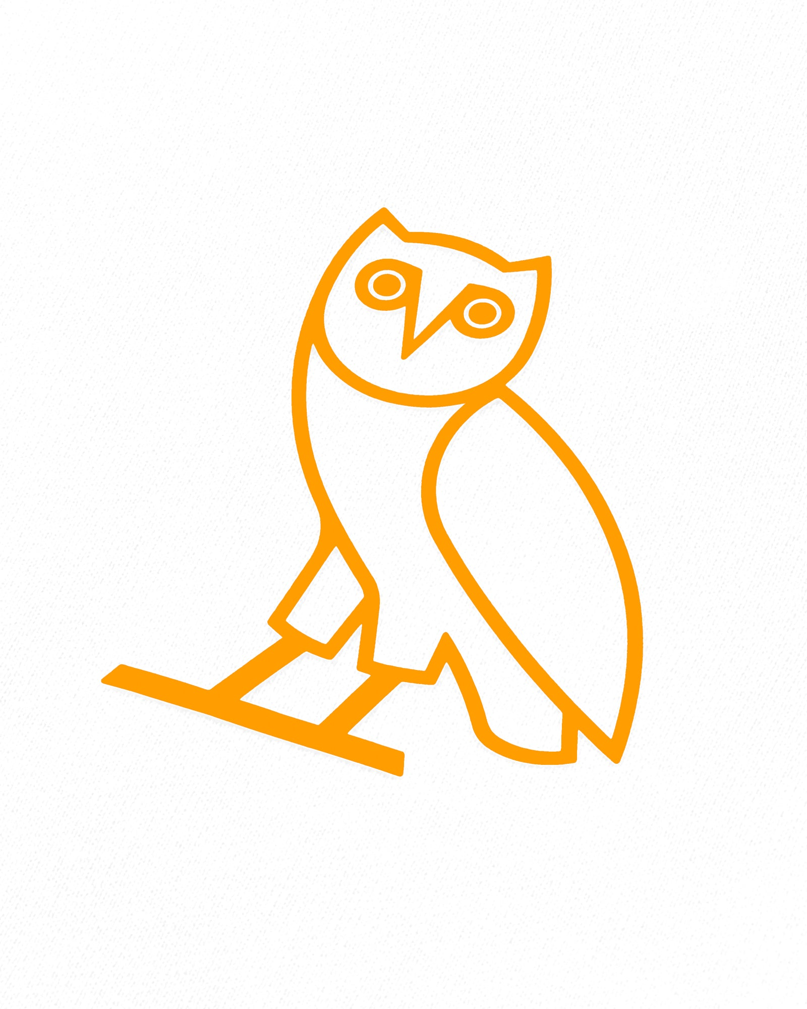 OVO OWL T-SHIRT - WHITE/NEON ORANGE IMAGE #3