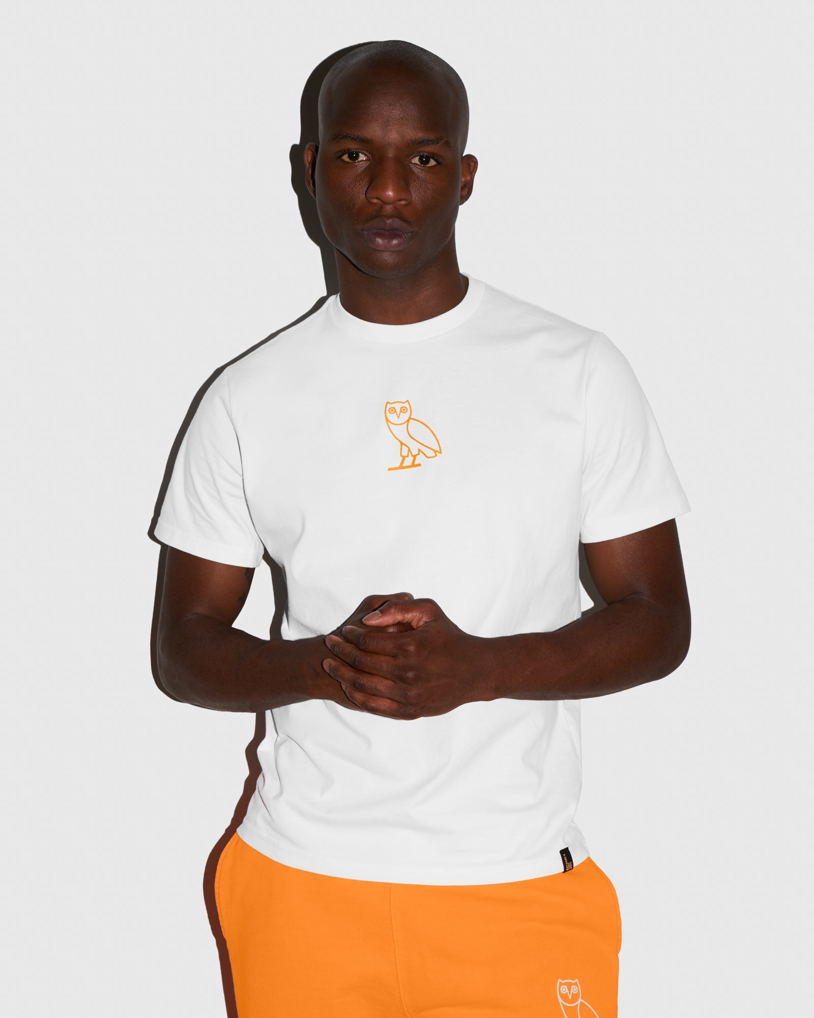 OVO OWL T-SHIRT - WHITE/NEON ORANGE IMAGE #2