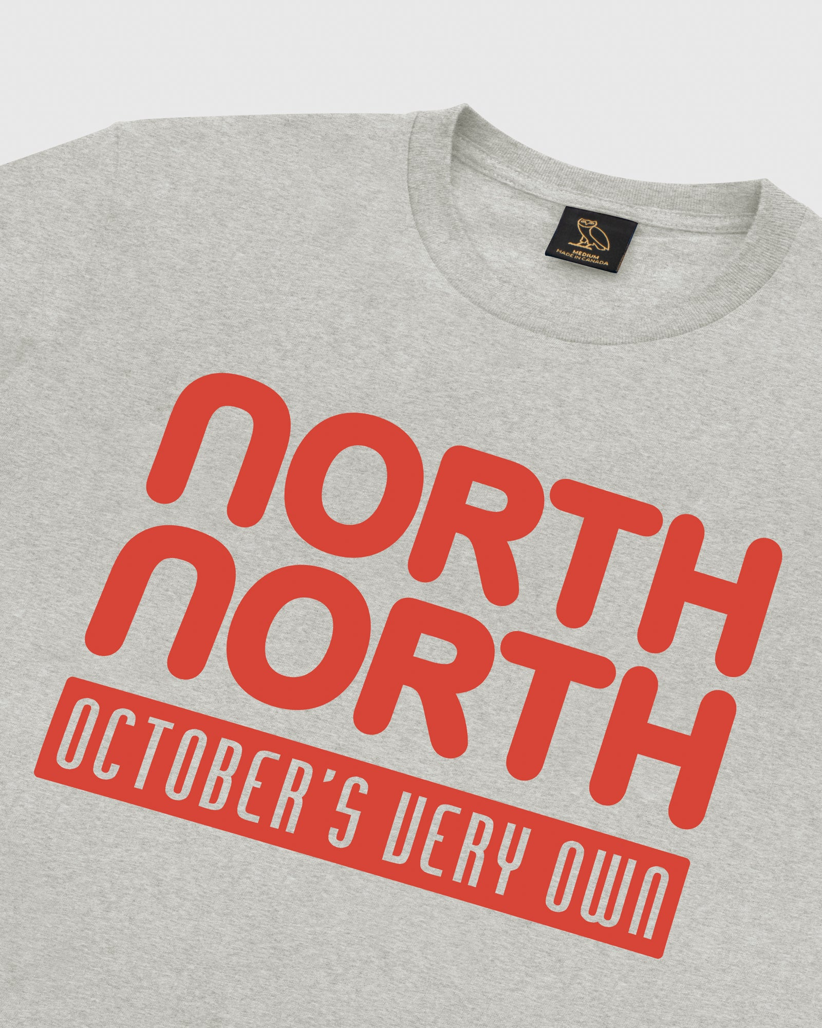 OVO NORTH NORTH T-SHIRT - HEATHER GREY IMAGE #4