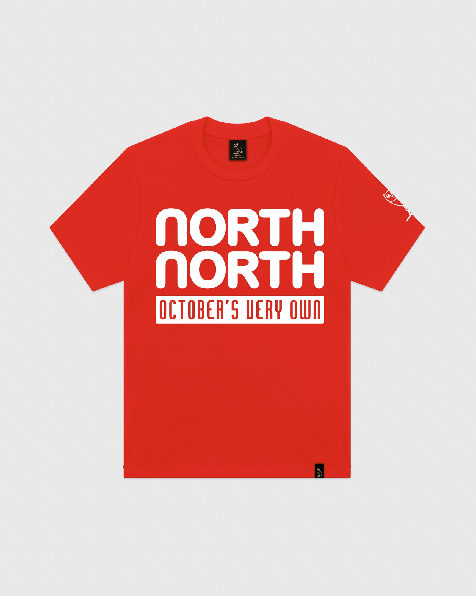OVO NORTH NORTH T-SHIRT - RED IMAGE #1