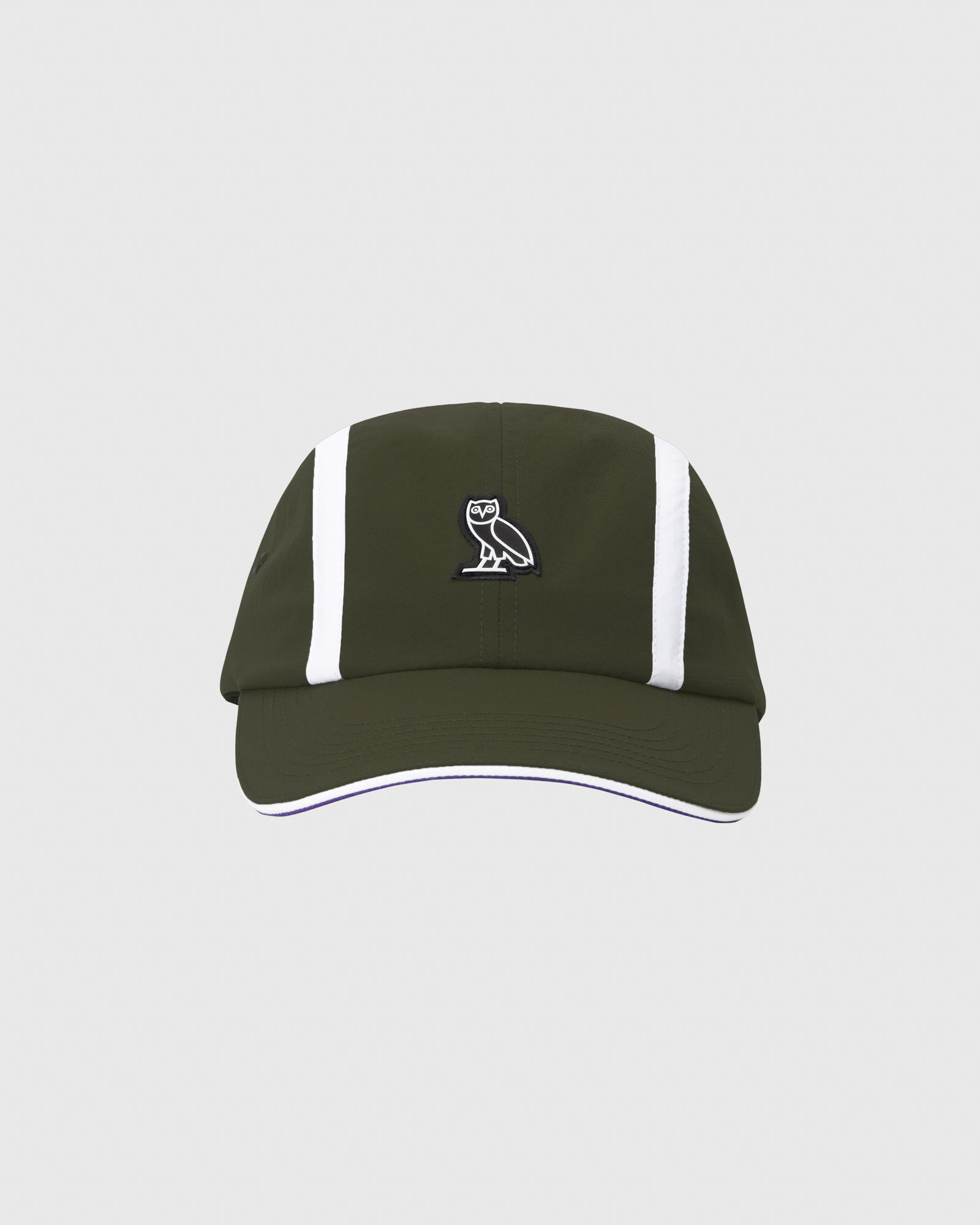 OVO MICRO RIPSTOP NYLON 4 PANEL CAP - MILITARY GREEN IMAGE #1