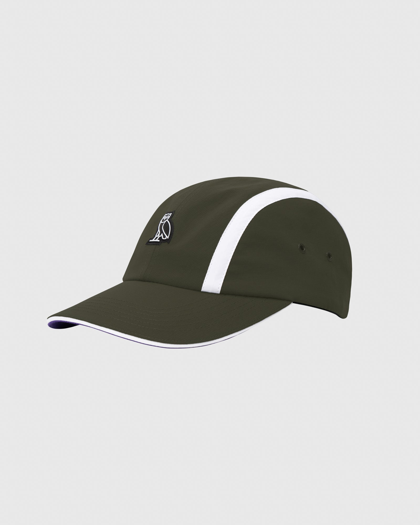 OVO MICRO RIPSTOP NYLON 4 PANEL CAP - MILITARY GREEN IMAGE #3