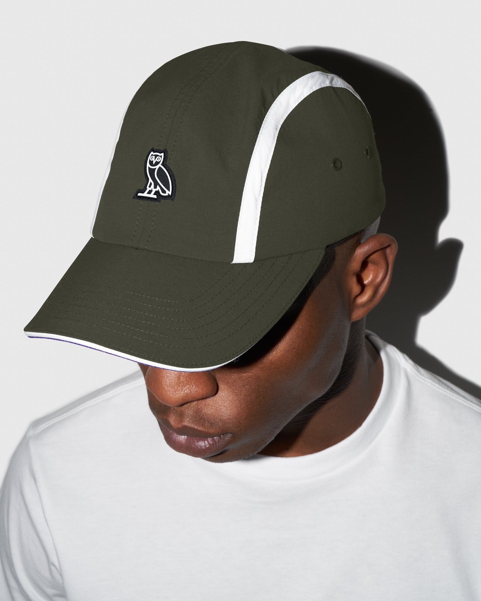 OVO MICRO RIPSTOP NYLON 4 PANEL CAP - MILITARY GREEN IMAGE #2