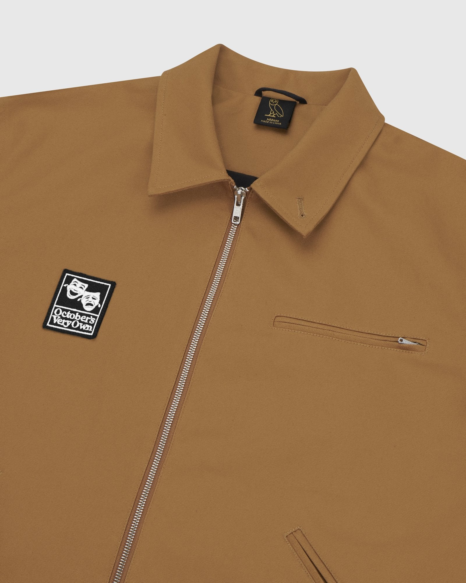 OCTOBER CANVAS JACKET - BROWN IMAGE #4