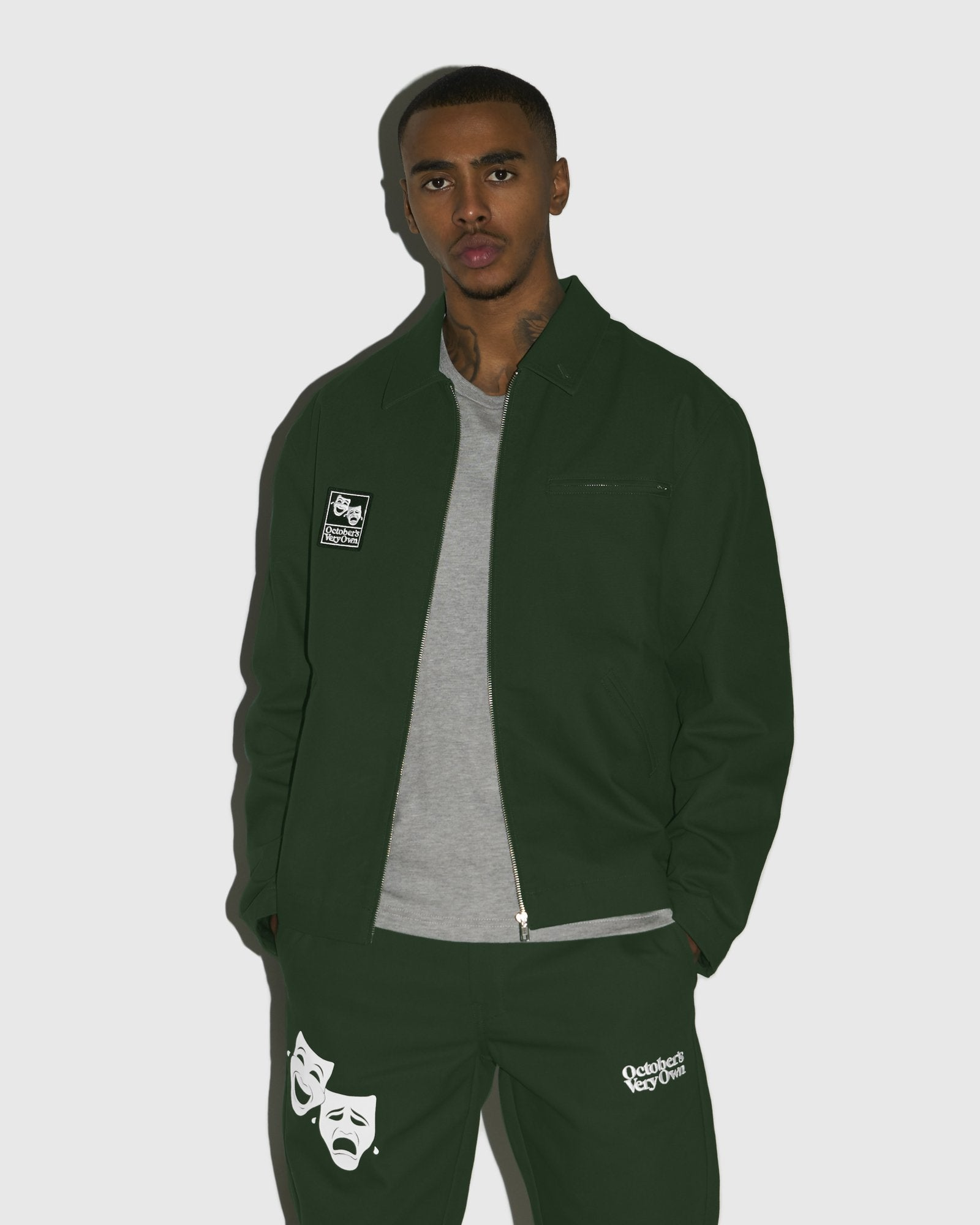 OCTOBER CANVAS JACKET - DARK GREEN IMAGE #2