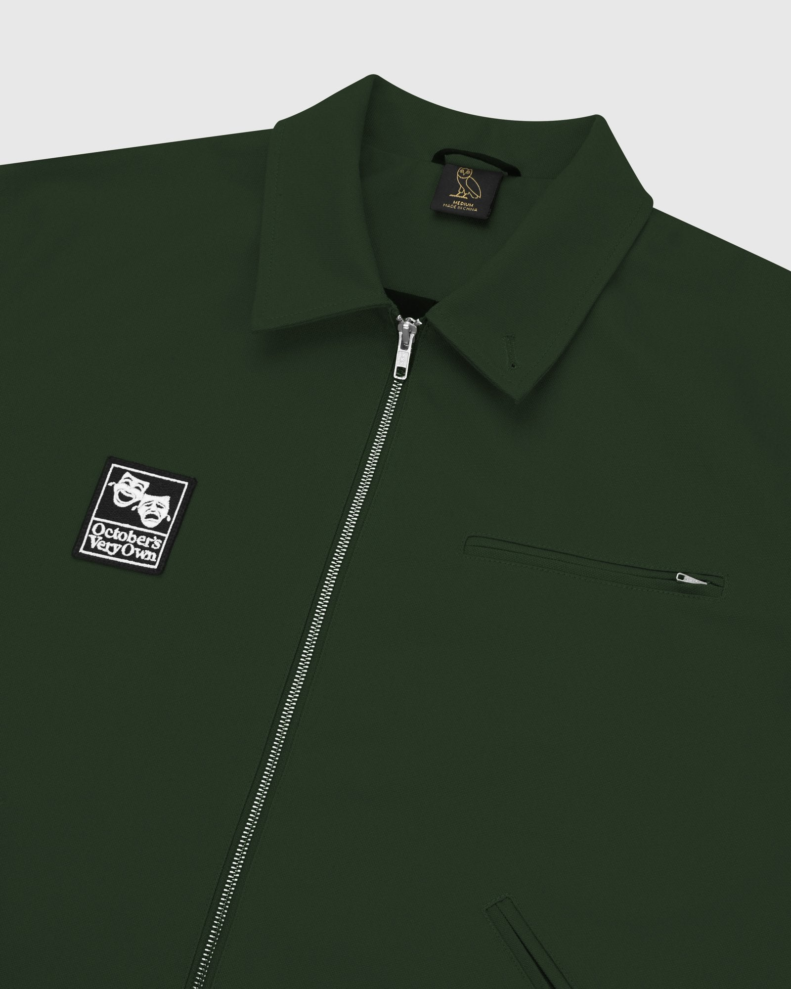 OCTOBER CANVAS JACKET - DARK GREEN IMAGE #4