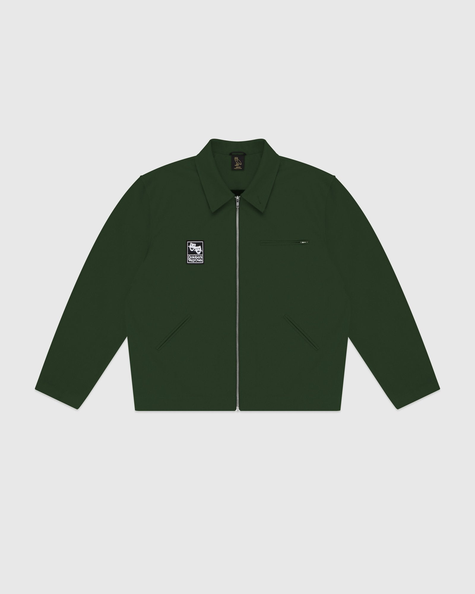 OCTOBER CANVAS JACKET - DARK GREEN IMAGE #1