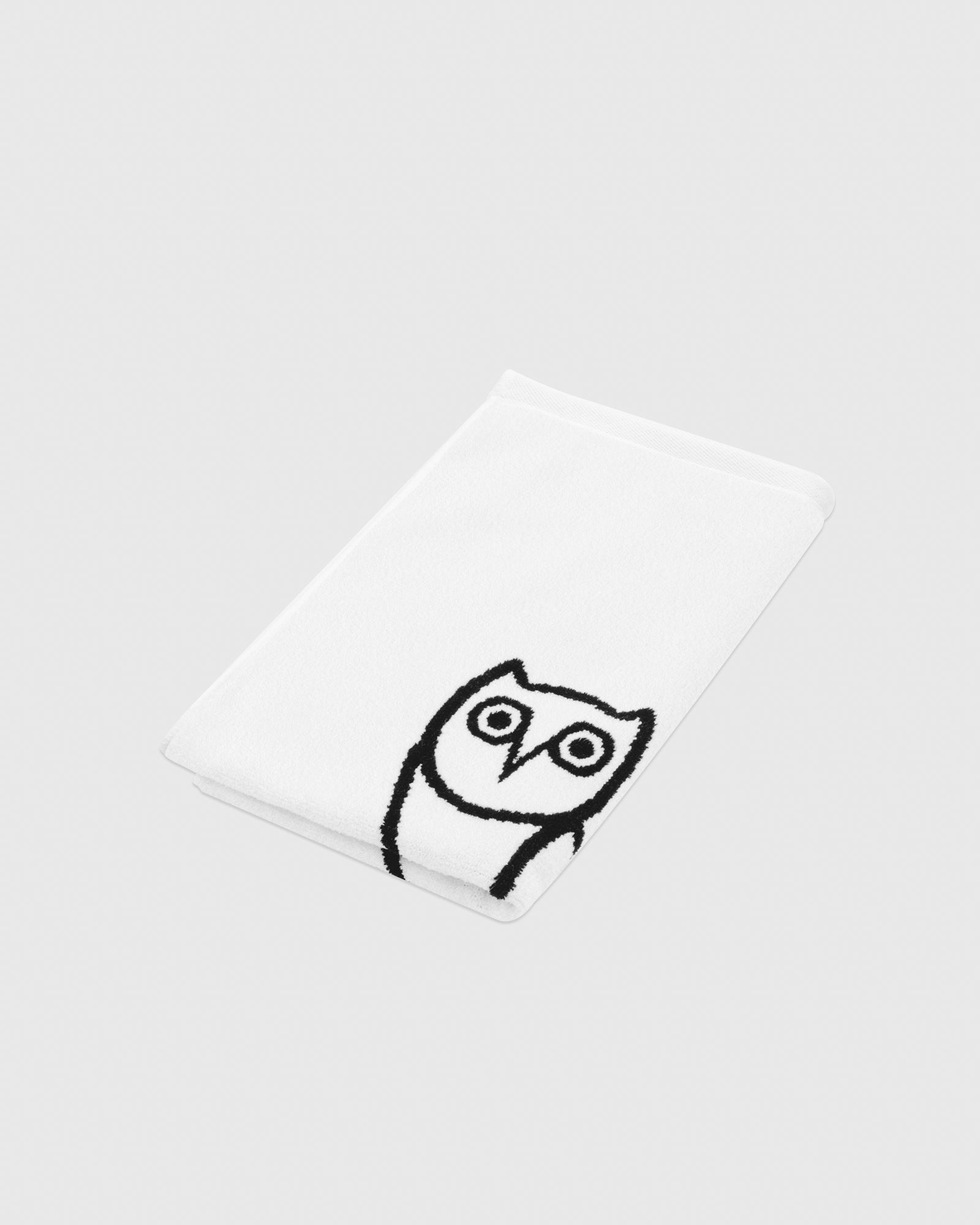 OVO OWL PERSONAL TOWEL - WHITE/BLACK IMAGE #3